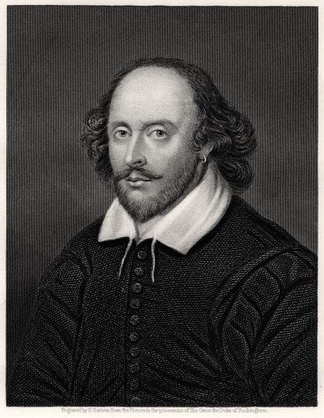 Ritratto del XIX secolo di William Shakespeare, drammaturgo inglese.