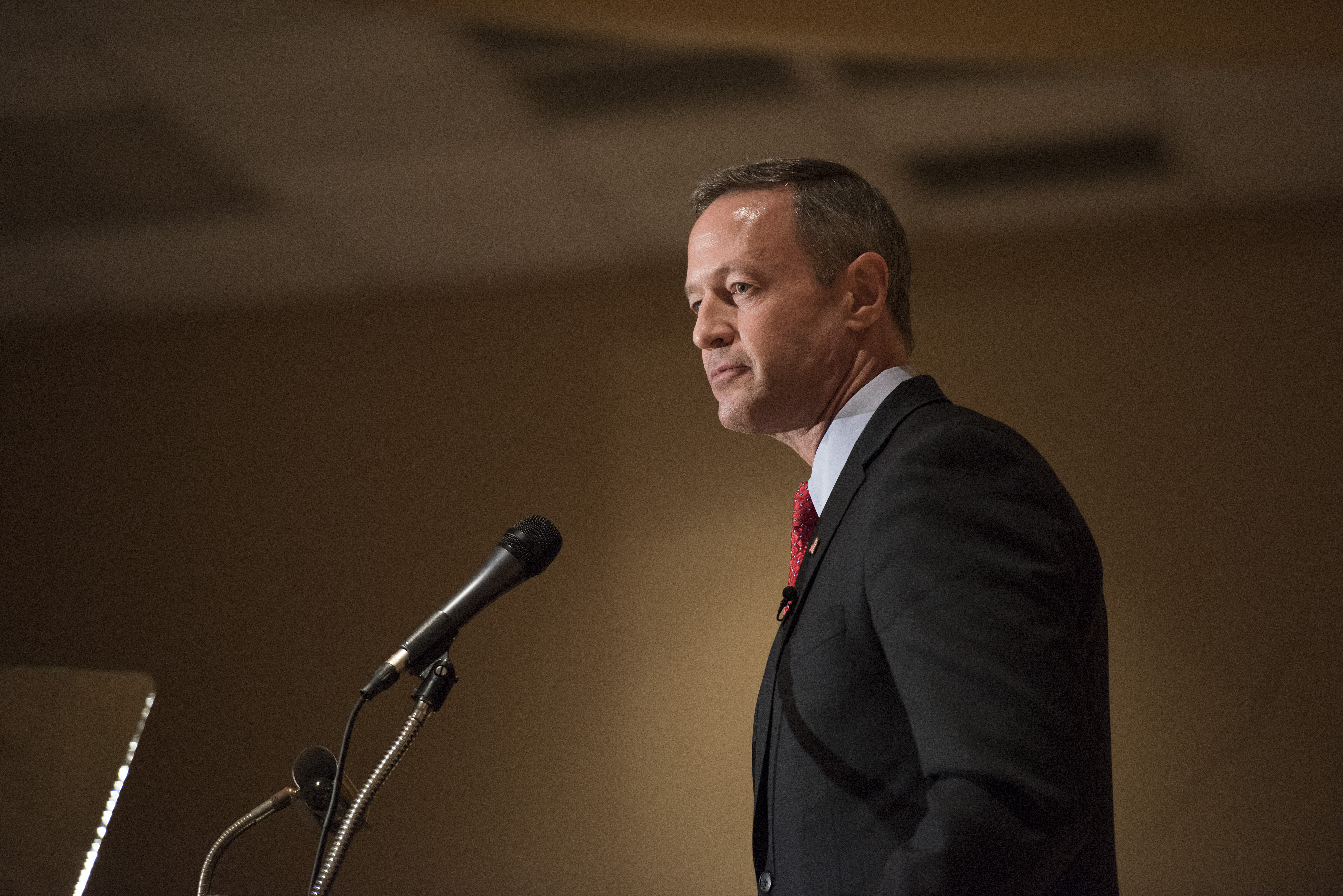Martin O'Malley, former governor of Maryland and potential Democratic presidential candidate, during the Scott County Democratic Party dinner in Davenport, Iowa, U.S., on Friday, March 20, 2015.