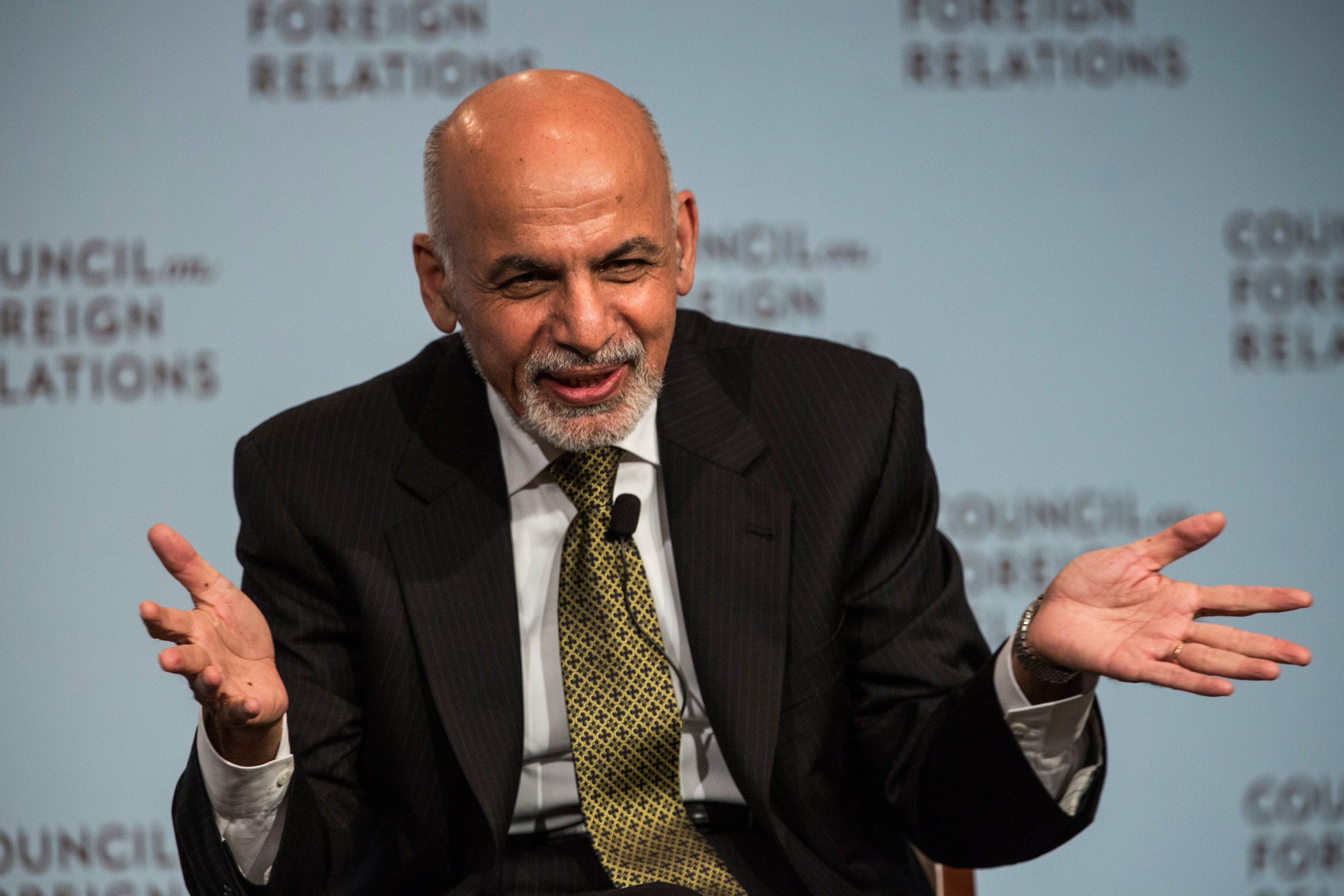 Ashraf Ghani, President of Afghanistan, speaks at the Council On Foreign Relations on March 26, 2015 in New York City.