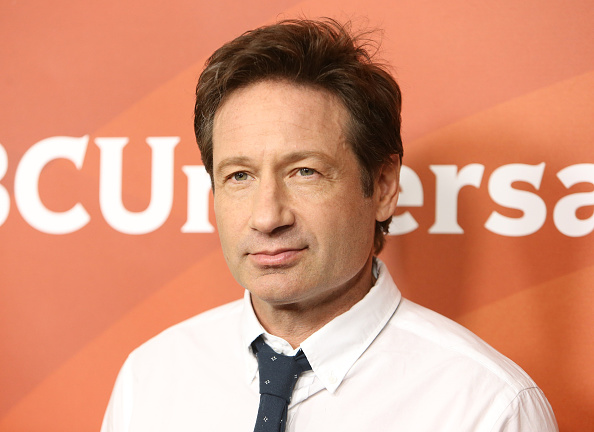 David Duchovny arrives at the NBCUniversal Summer press day held at the Langham Huntington Hotel and Spa in Pasadena, Calif., on April 2, 2015