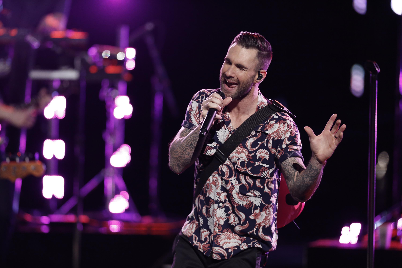 Adam Levine with Maroon 5