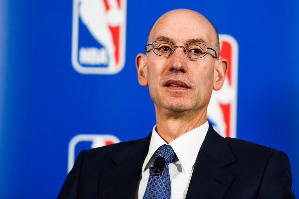 NBA Commissioner Adam Silver during a press conference in New York City on April 13, 2015.