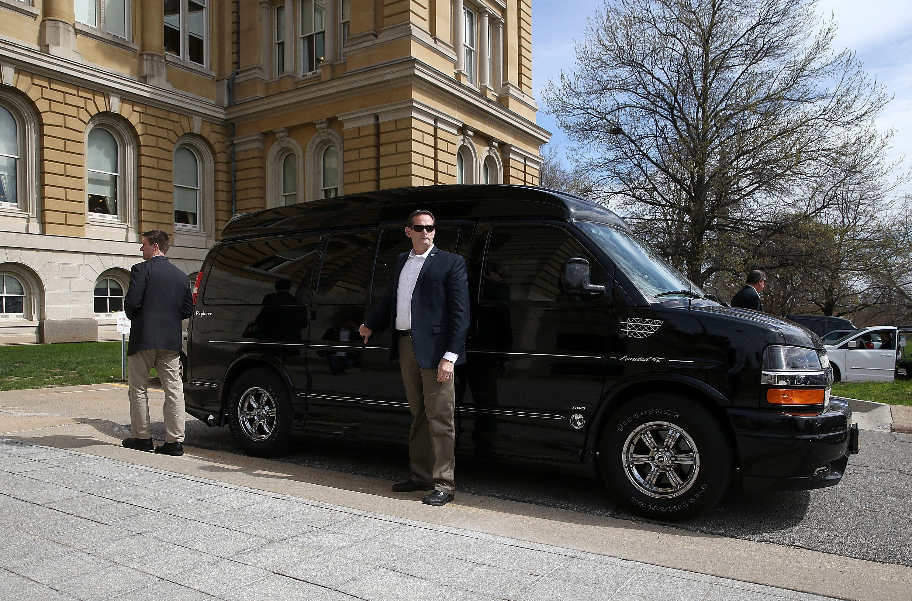 Des Moines, IA - April 15: Hillary Clinton began her 2016 campaign by driving from her house in Chappaqua, N.Y., to Iowa in a van instead of flying, as she did in 2008.