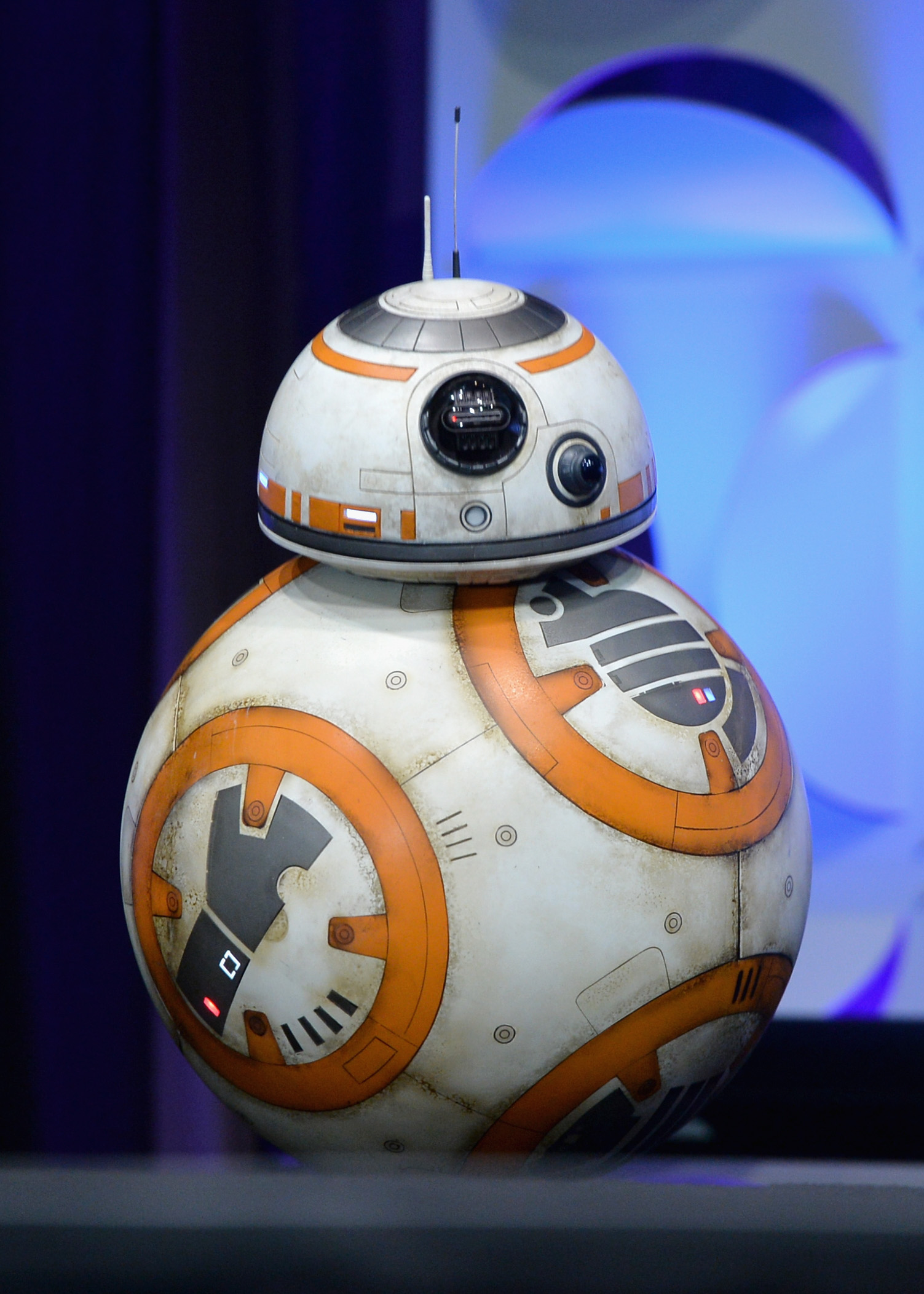 BB-8 onstage during Star Wars Celebration 2015 on April 16, 2015 in Anaheim, California.