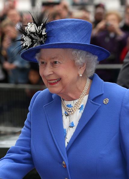 Queen Elizabeth II attends a reception in London, England on April 19, 2015.