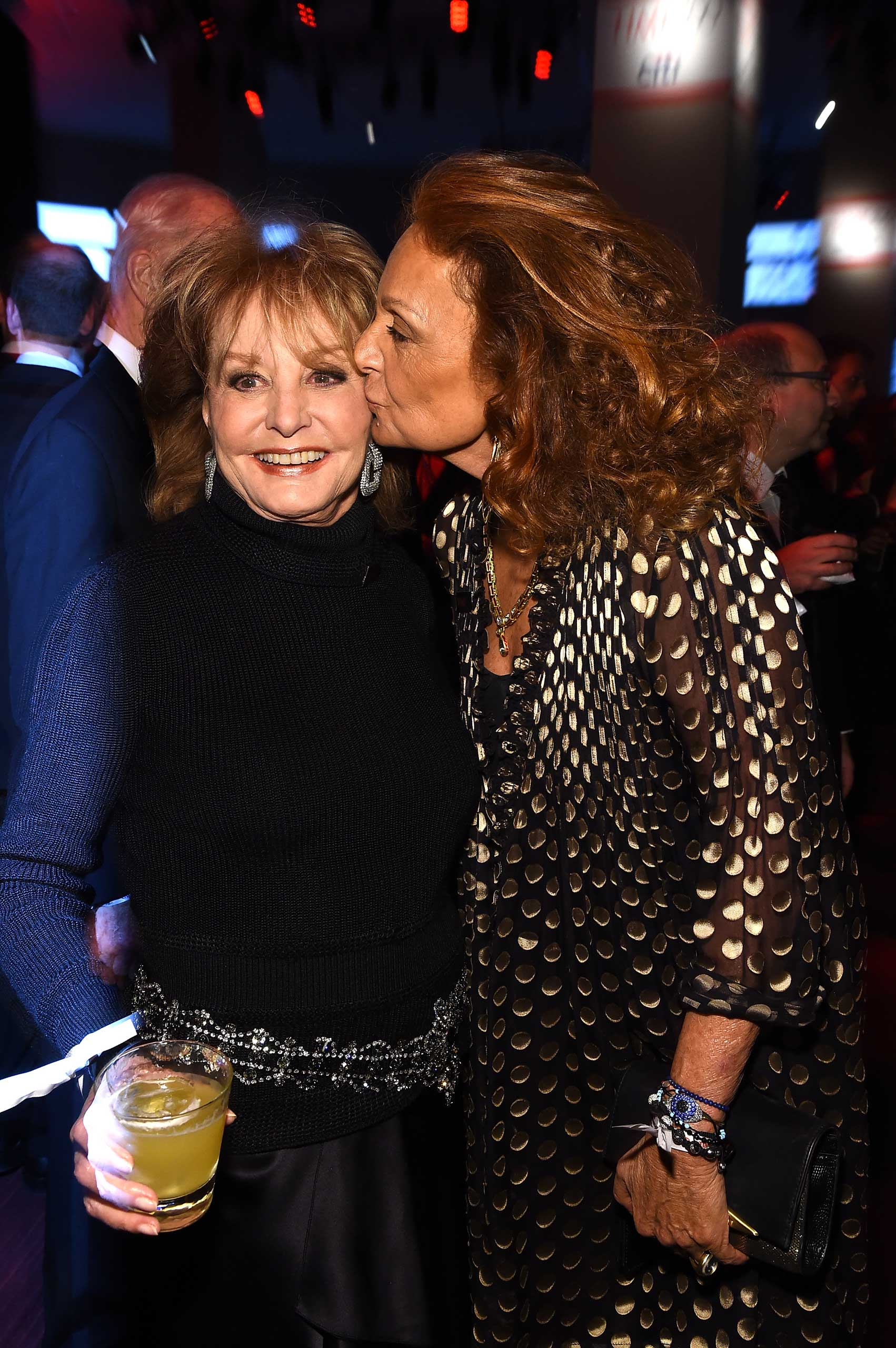 Barbara Walters and Diane von Furstenberg attend the TIME 100 Gala at Jazz at Lincoln Center in New York City on Apr. 21, 2015.