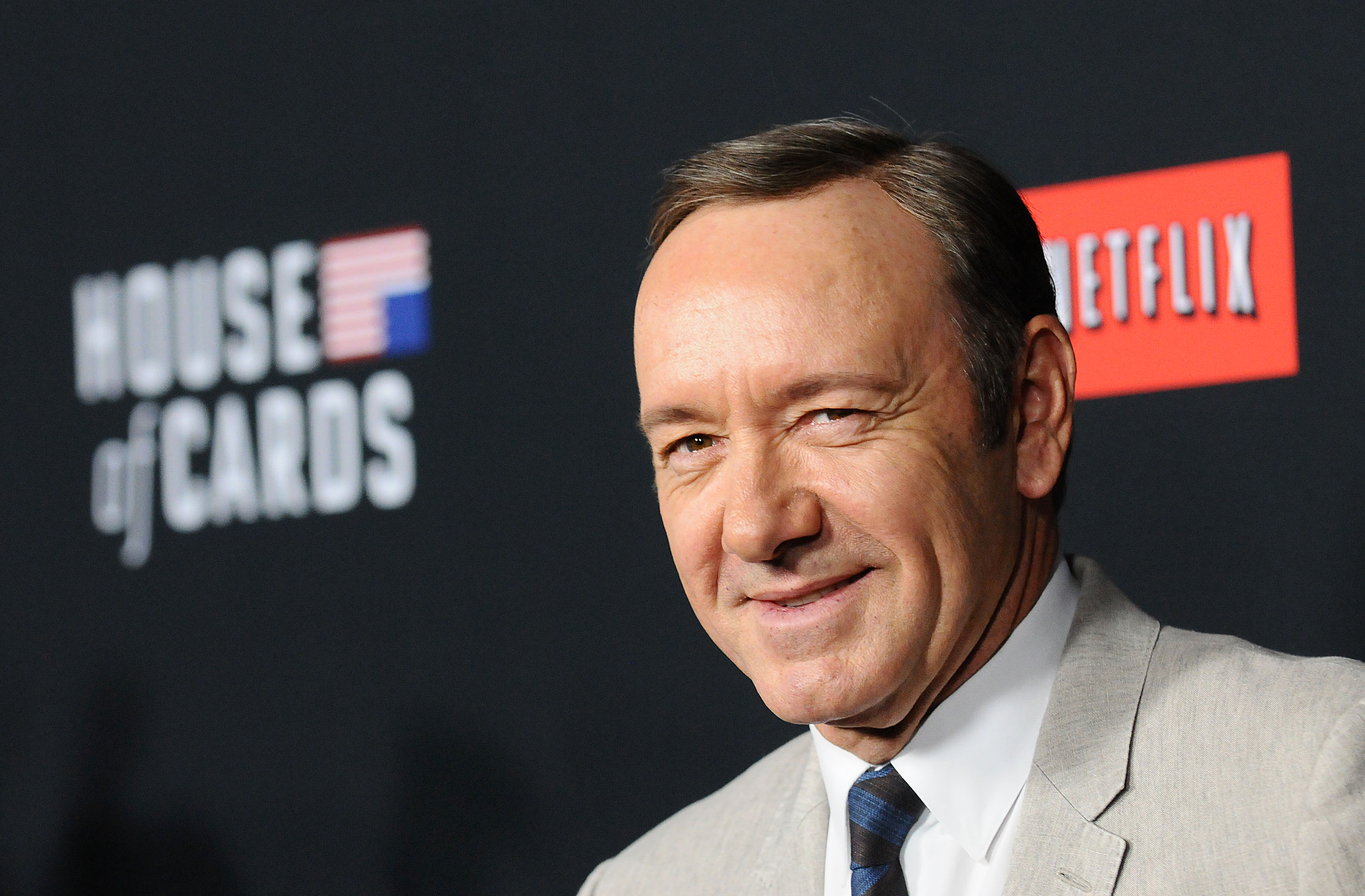 Actor Kevin Spacey attends a screening of  House Of Cards  at Directors Guild Of America on February 13, 2014 in Los Angeles, California.