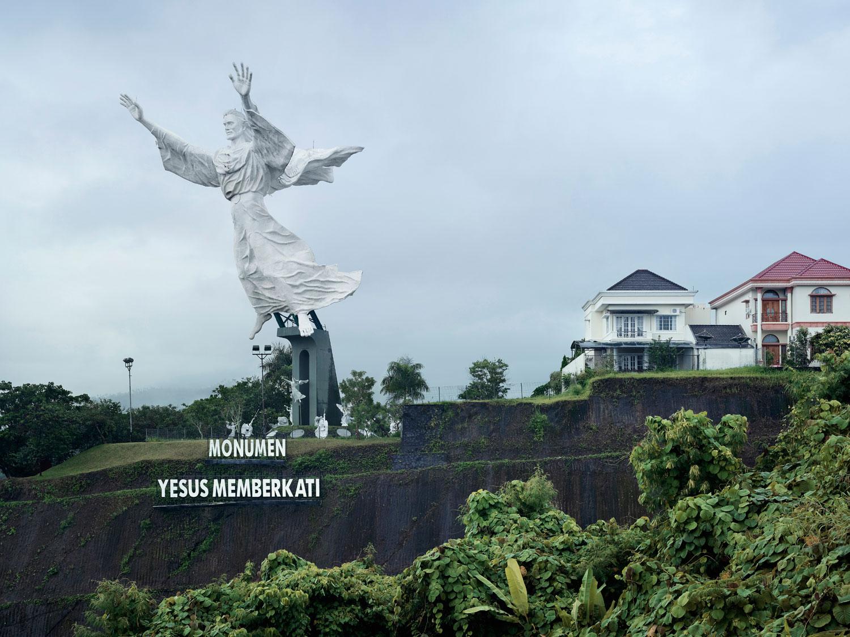 Christ Blessing, 30m (98.5 ft.), built in 2007. Manado, Indonesia.