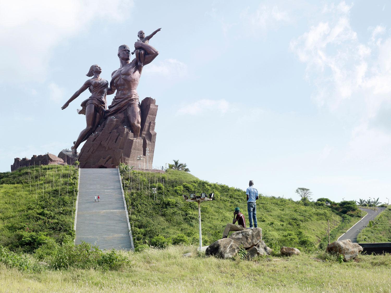 African Renaissance Monument, 49m (161 ft.), built in 2010. Dakar, Senegal.