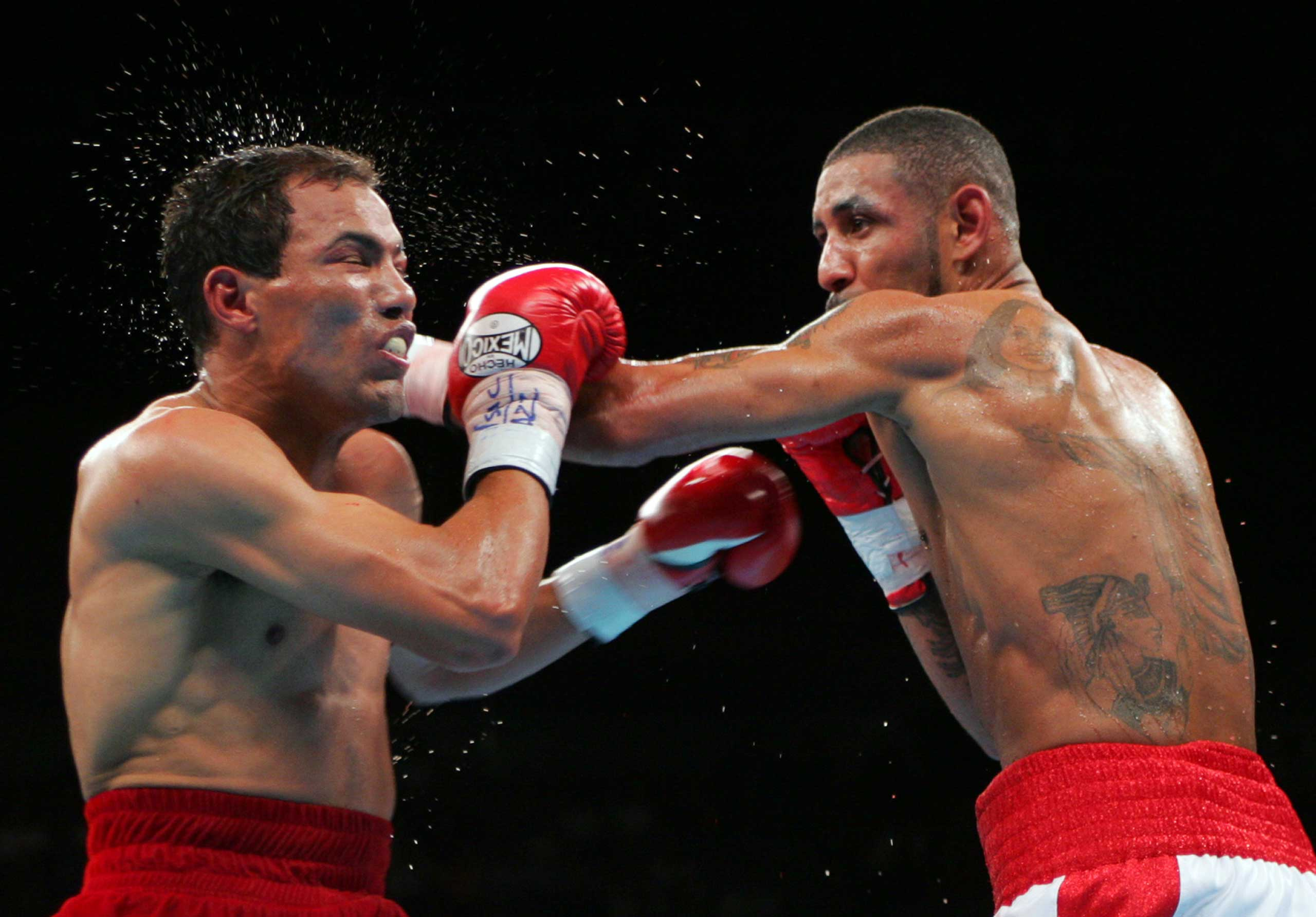 "<b>Diego Corrales vs. Jose Luis Castillo, May 7, 2005</b>  They may not have been household names but with the WBC lightweight title at stake, Diego Corrales and Jose Luis Castillo wowed every house which watched this classic. The pace was simply unrelenting with both fighters landing and receiving repeated blows over nine nasty rounds. The fight ended in memorable fashion in the 10th when Corrales, after being floored twice, rose and landed a devastating series of shots that left Castillo draped helpless on the ropes. But this devastating denouement would not be without controversy: upon getting up for the second time, Corrales spat out his gumshield, thus benefitting from an unofficial 30 second timeout, whereby he literally regained his senses. The pair fought against each other again with Castillo easily gaining revenge. But the decisive final fight, inevitably dubbed ""The War to Settle the Score"", was canceled due to Castillo weighing too much."