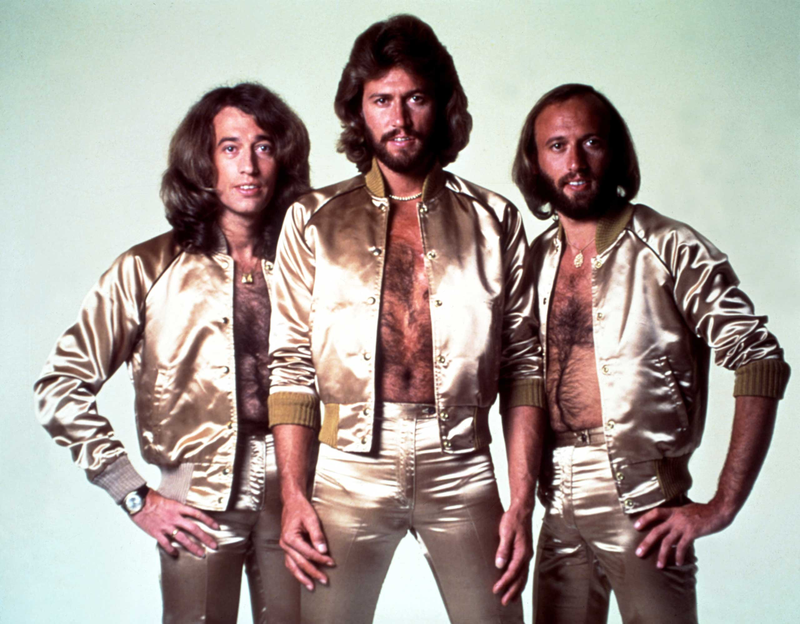 THE BEE GEES: Barry is the first born of the Gibb brothers. He was joined three years later by fraternal twins Robin and Maurice. Together, they created the monstrously successful 'Saturday Night Fever' soundtrack. A fourth brother, Andy, also enjoyed a successful career in pop.