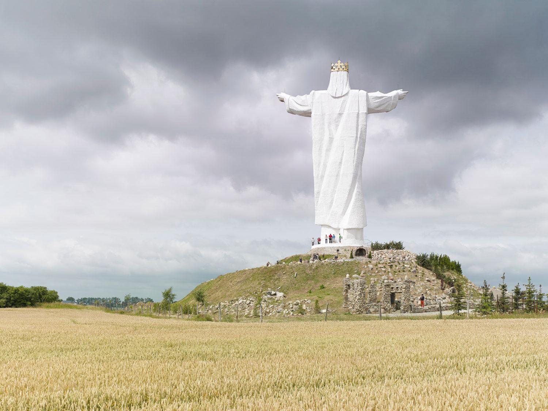 Christ the King, 36 m (120 ft.), built in 2010. Świebodzin, Poland.