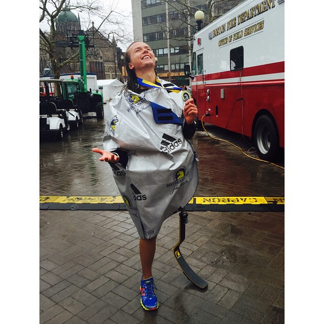 Edward Lychik posted this picture to Instagram saying,  It was my challenging course yet! Took the Boston Marathon 26.2 miles home through Heartbreak Hill and the heavy rain at 4:12. Thanks for all the support and being there since my 1st to now my 6th Marathon finish! I love and appreciate you all! #bostonmarathon