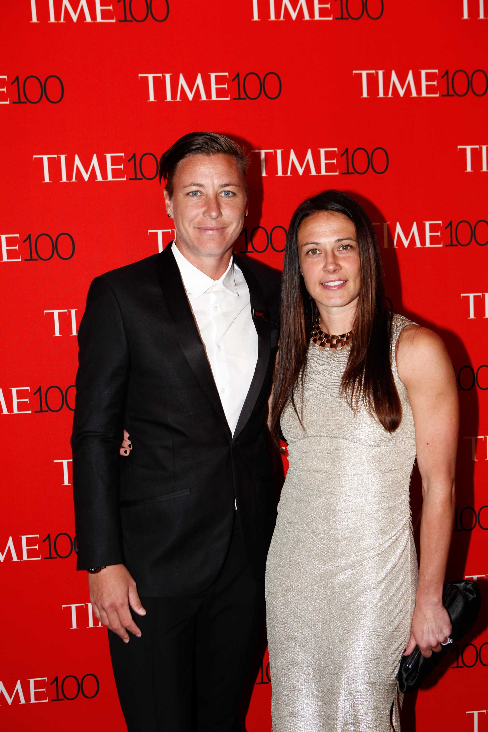 Abby Wambach and Sarah Huffman attend the TIME 100 Gala at Jazz at Lincoln Center in New York City on Apr. 21, 2015.
