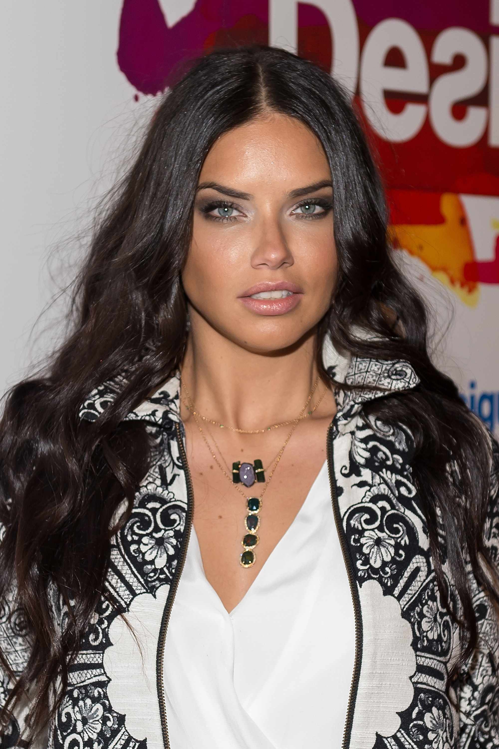 Model Adriana Lima attends Desigual show during Mercedes-Benz Fashion Week Fall 2015 at The Theatre at Lincoln Center on Feb. 12, 2015 in New York City.