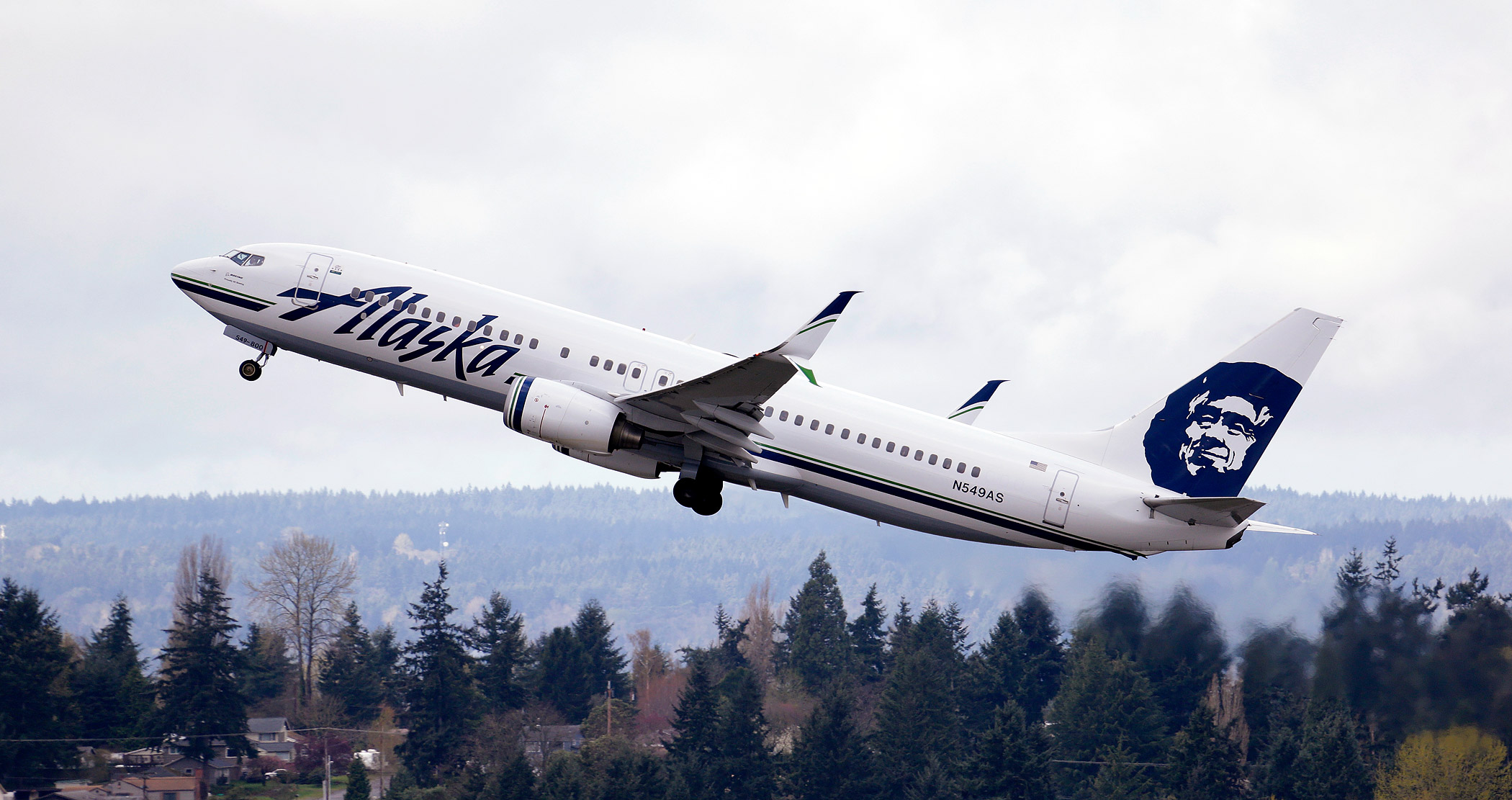 An Alaska Airlines jet takes off at Seattle-Tacoma International Airport in SeaTac, Wash. on March 24, 2015.