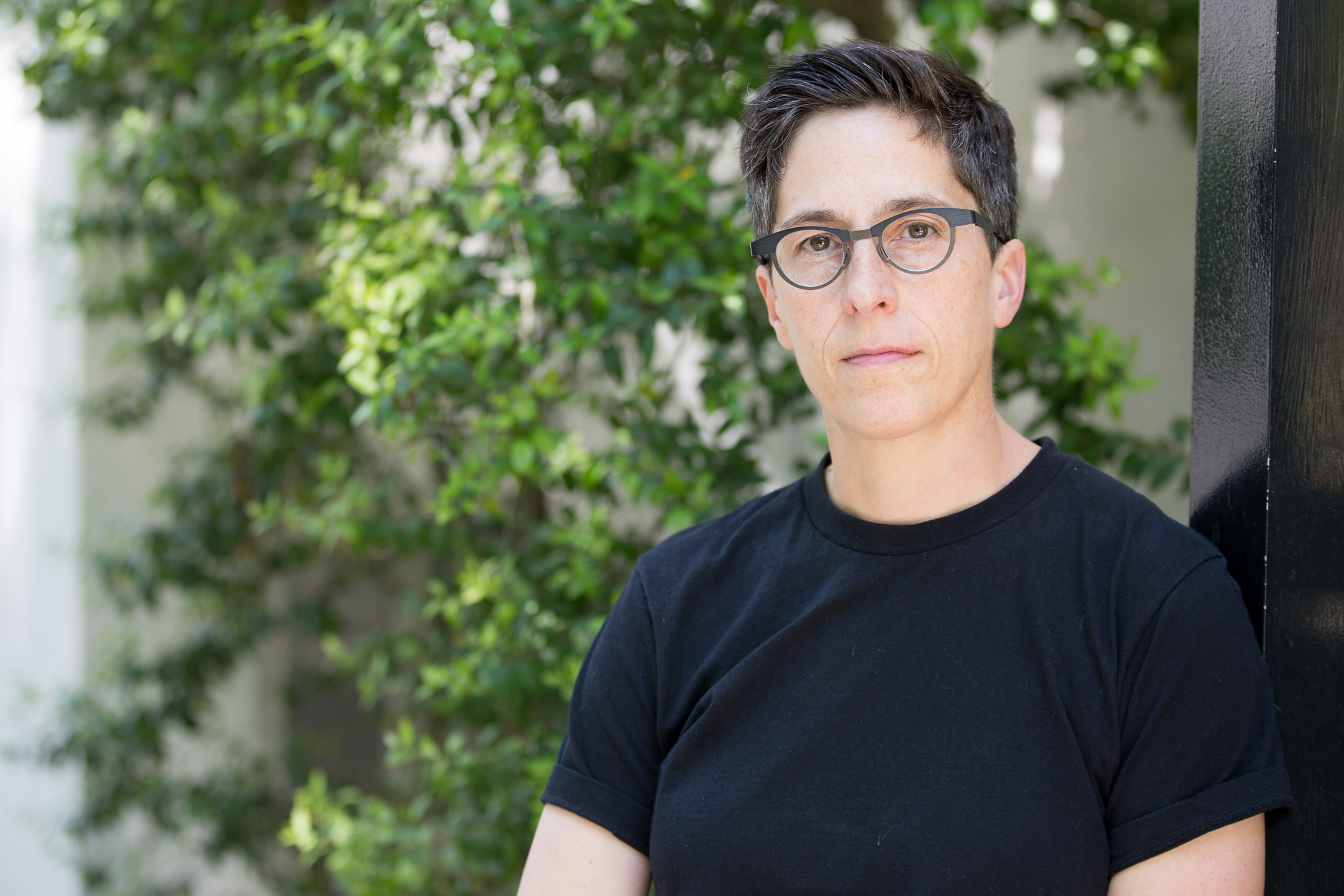 Alison Bechdel at a rehearsal for the musical Fun Home on April 21, 2014 in Charleston, SC.