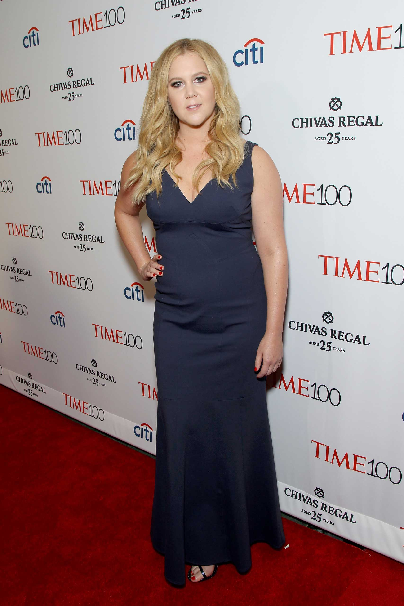 Amy Schumer attends the TIME 100 Gala at Jazz at Lincoln Center in New York City on Apr. 21, 2015.