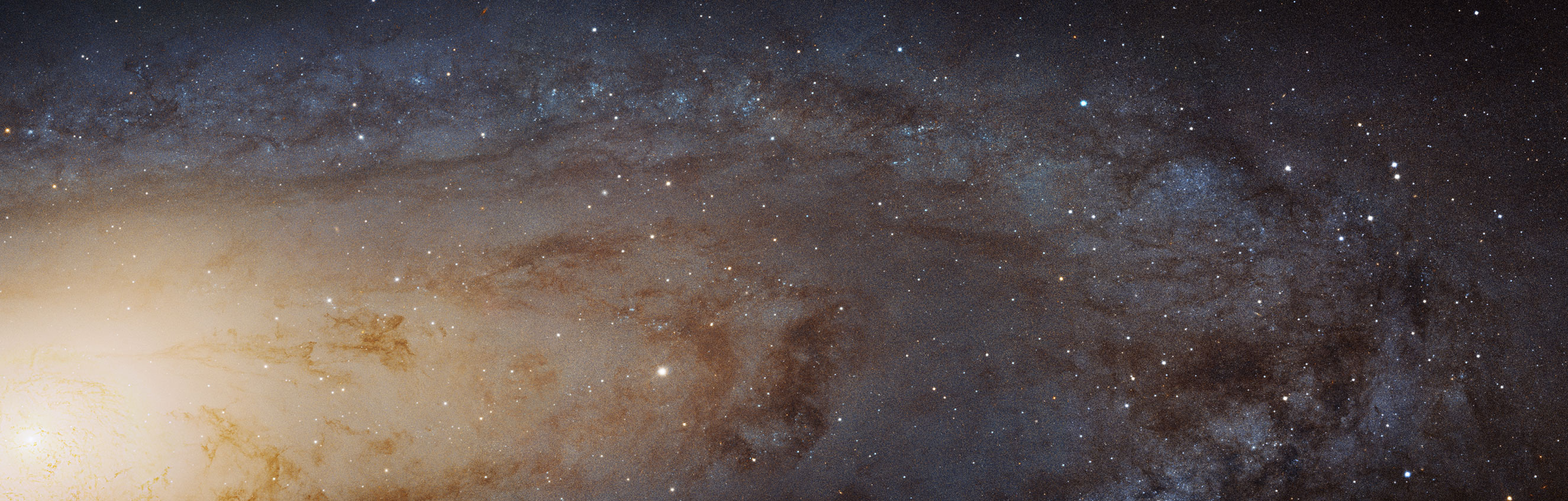 Andromeda: This is the largest and sharpest image ever taken of the Andromeda galaxy. It is the biggest Hubble image ever released and shows over 100 million stars and thousands of star clusters embedded in a section of the galaxy's pancake-shaped disc stretching across over 40,000 light-years. Image released on Jan. 5, 2015