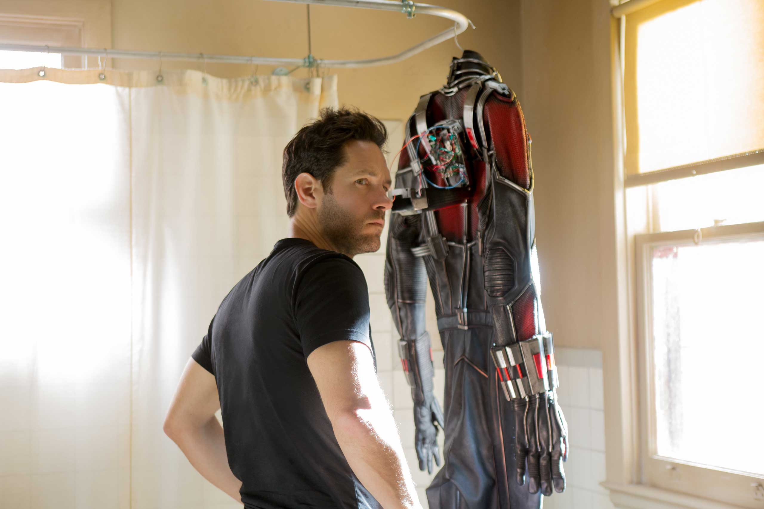 Marvel's Ant-Man, played by Paul Rudd, in the movie distributed by Walt Disney Studios.