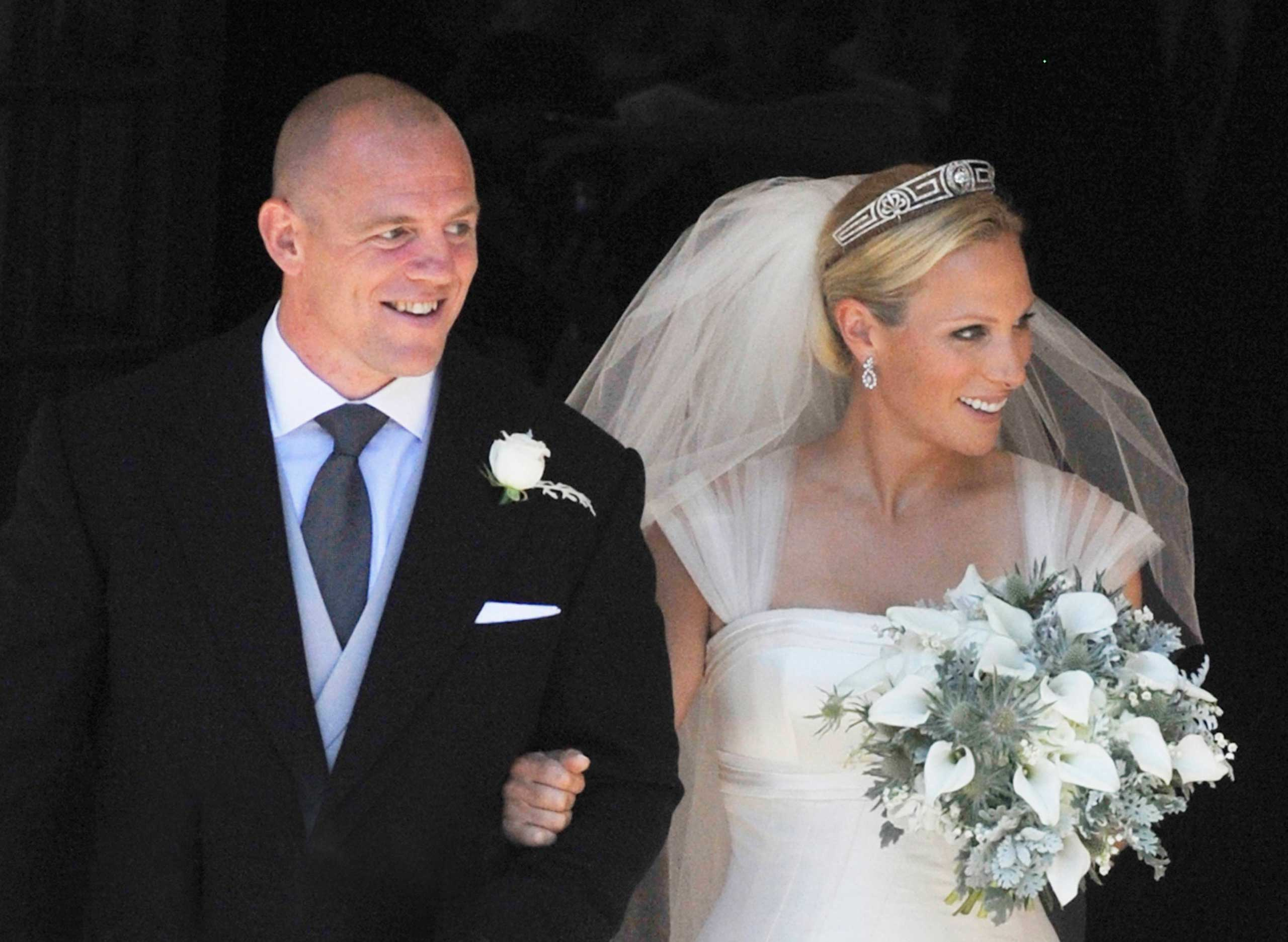 Zara Phillips and Mike Tindall in Edinburgh on July 30, 2011.