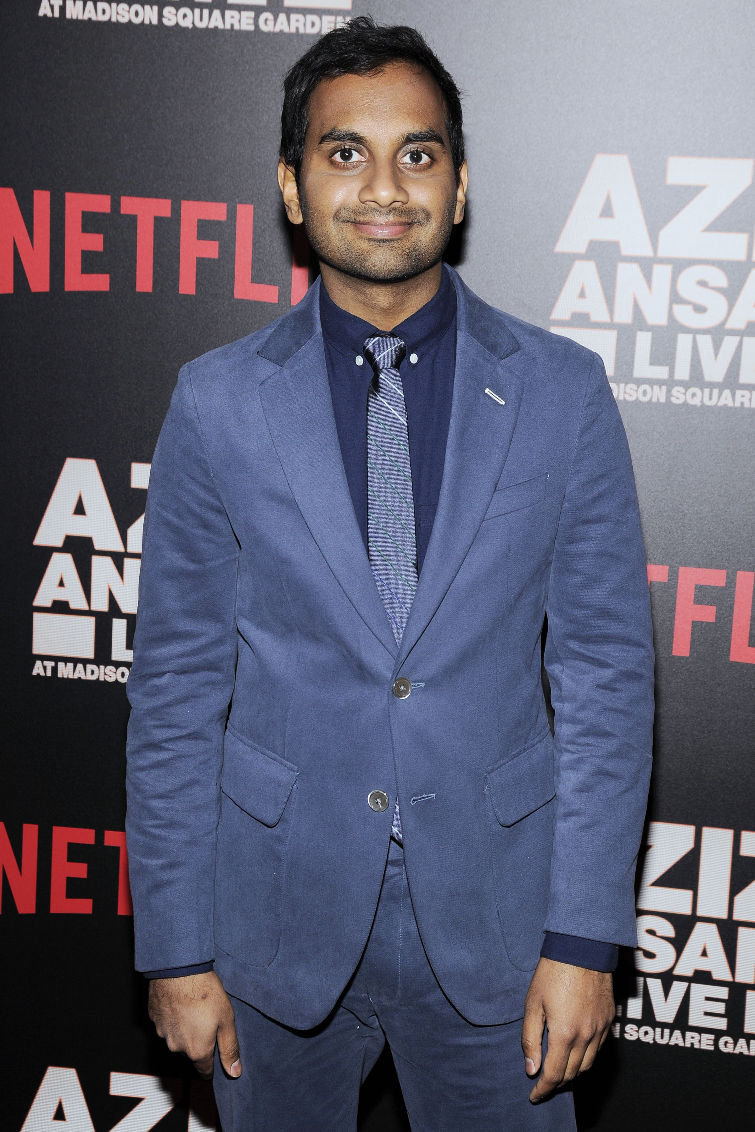 Aziz Ansari at  NETFLIX hosts premiere of Aziz Ansari: Live at Madison Square Garden  in New York City on March 6, 2015.