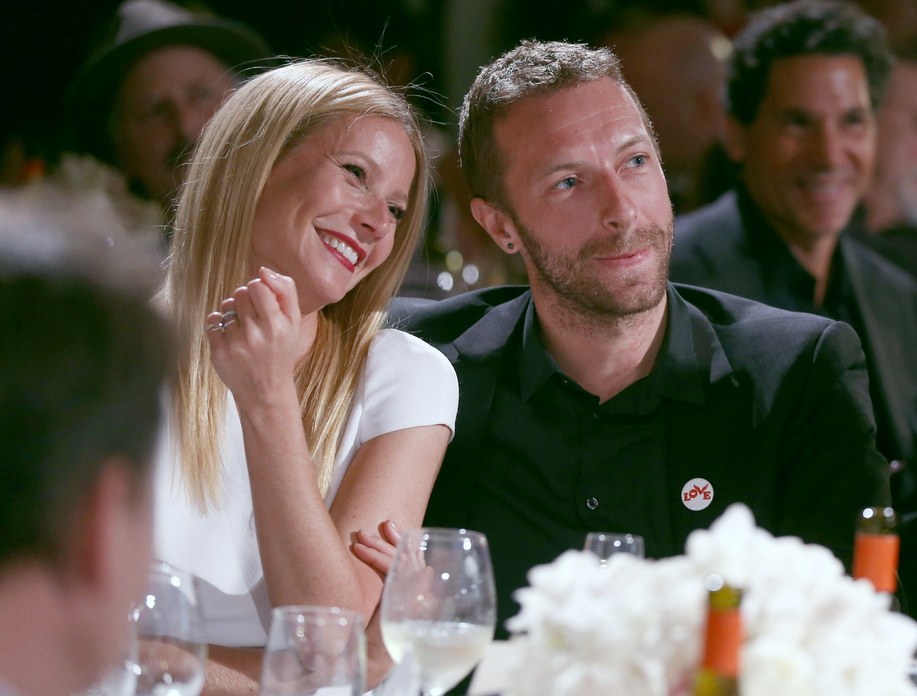 Gwyneth Paltrow and Chris Martin are seen at the Montage Hotel in Beverly Hills on Jan. 11, 2014