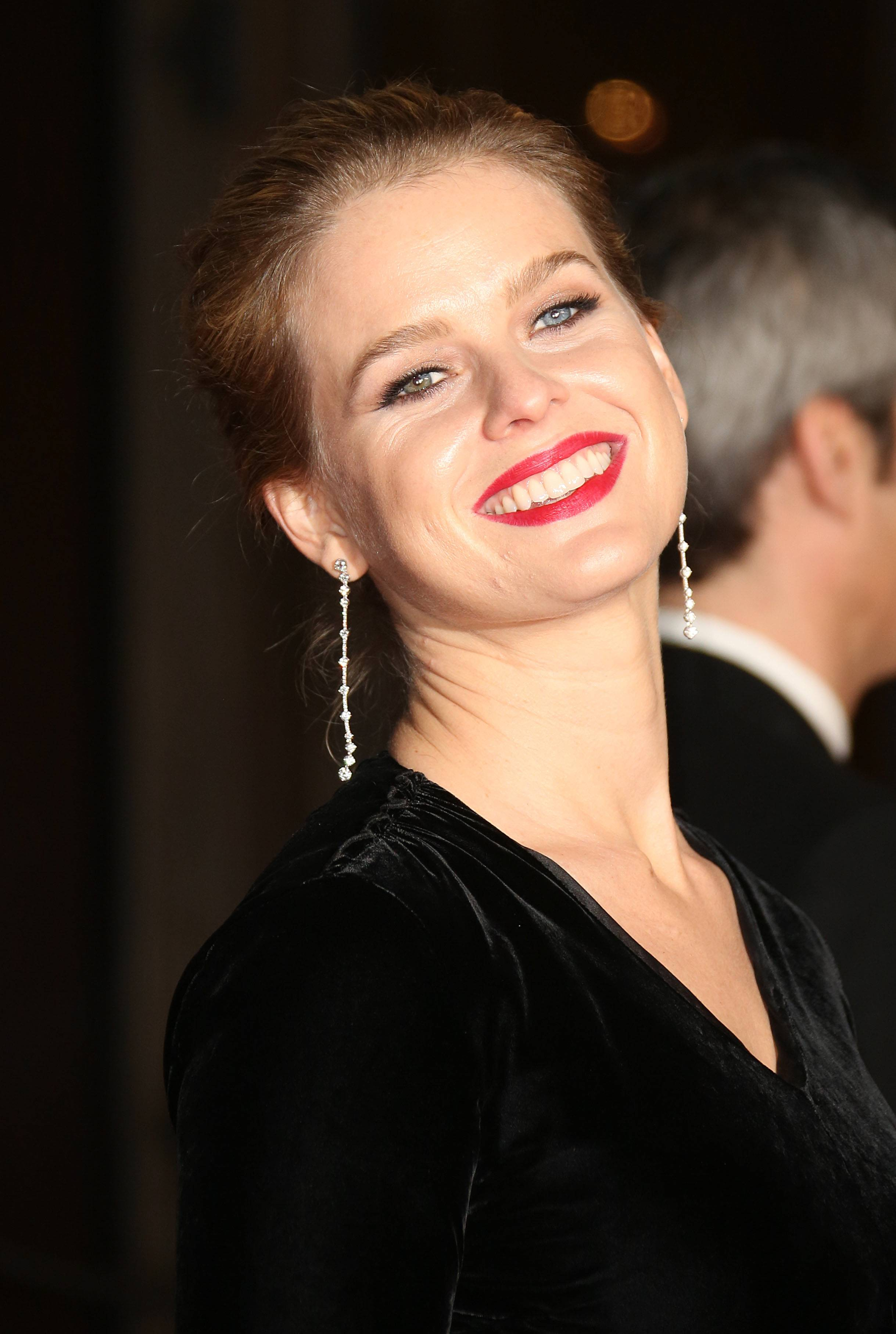 Alice Eve at The EE British Academy Film Awards in                     London, England on February 8, 2015.