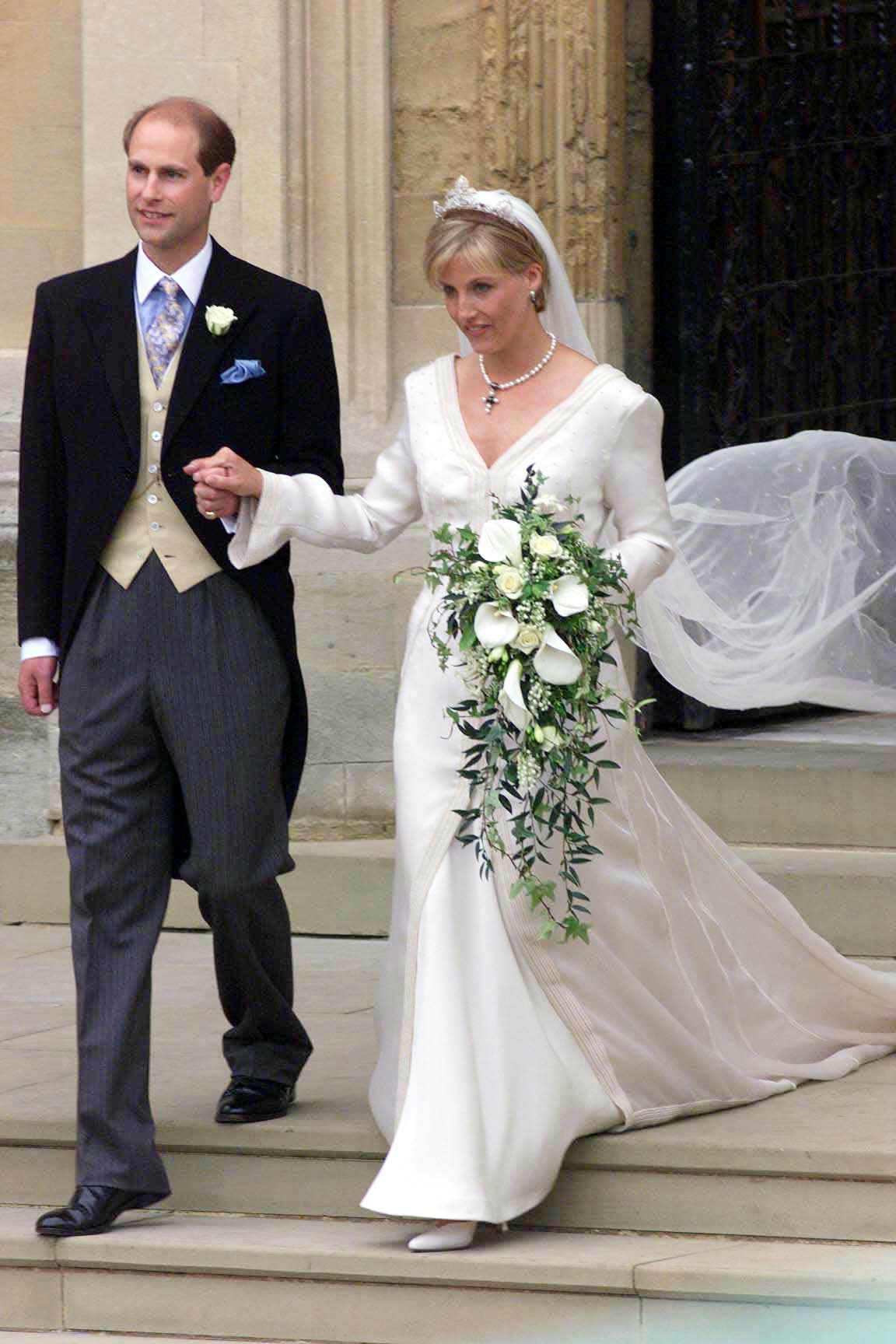 The Earl and Countess of Wessex on their wedding day on June 19, 1999.