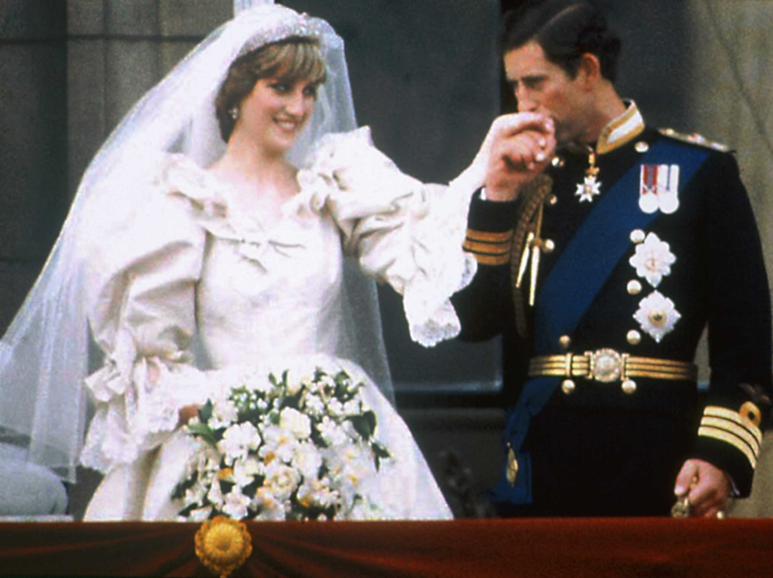 Charles, Prince of Wales, and Lady Diana Spencer on their wedding day at St Paul's Cathedral, London on July 29, 1981.