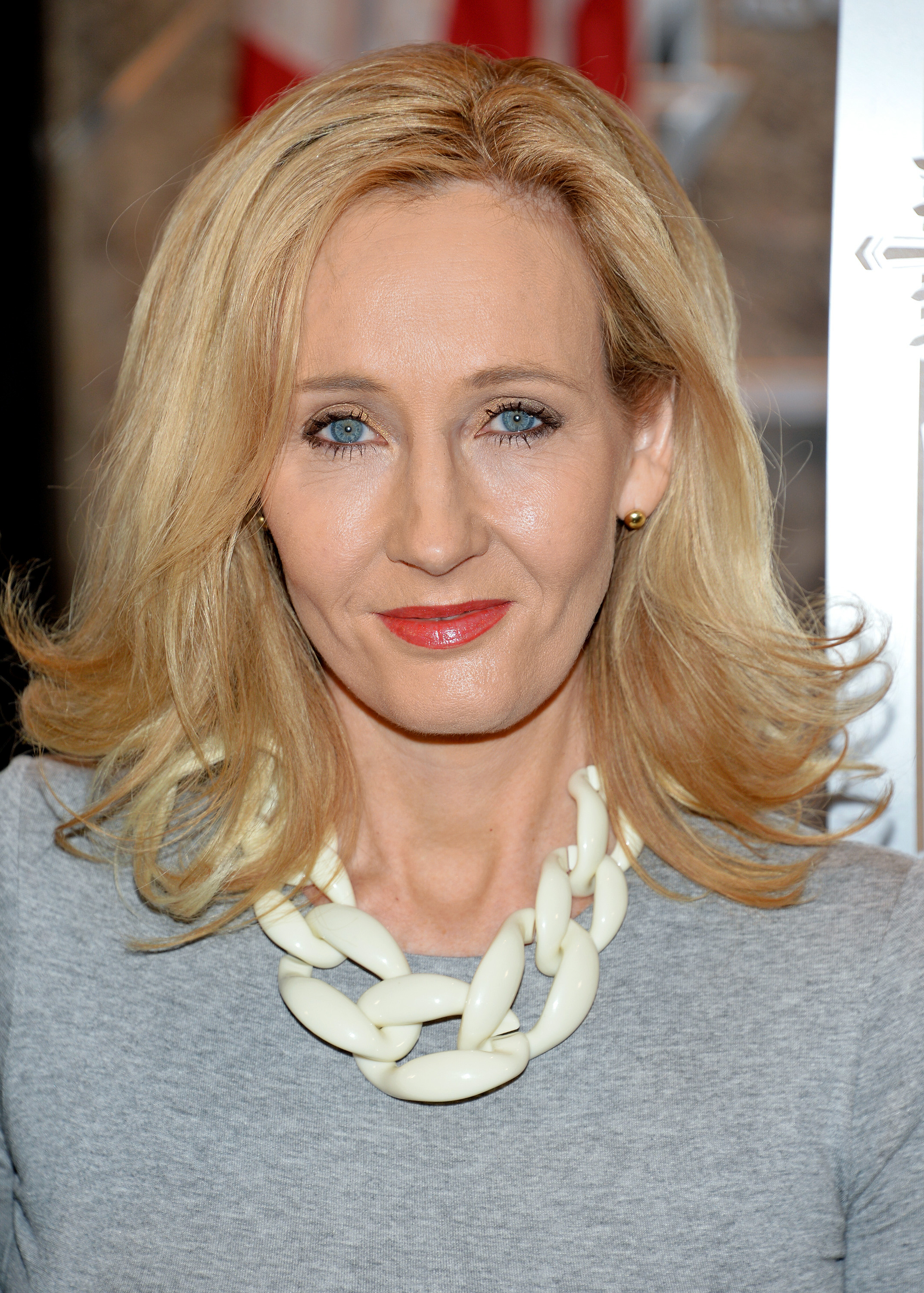 Author J.K. Rowling at the Empire State Building in New York City on April 9, 2015.