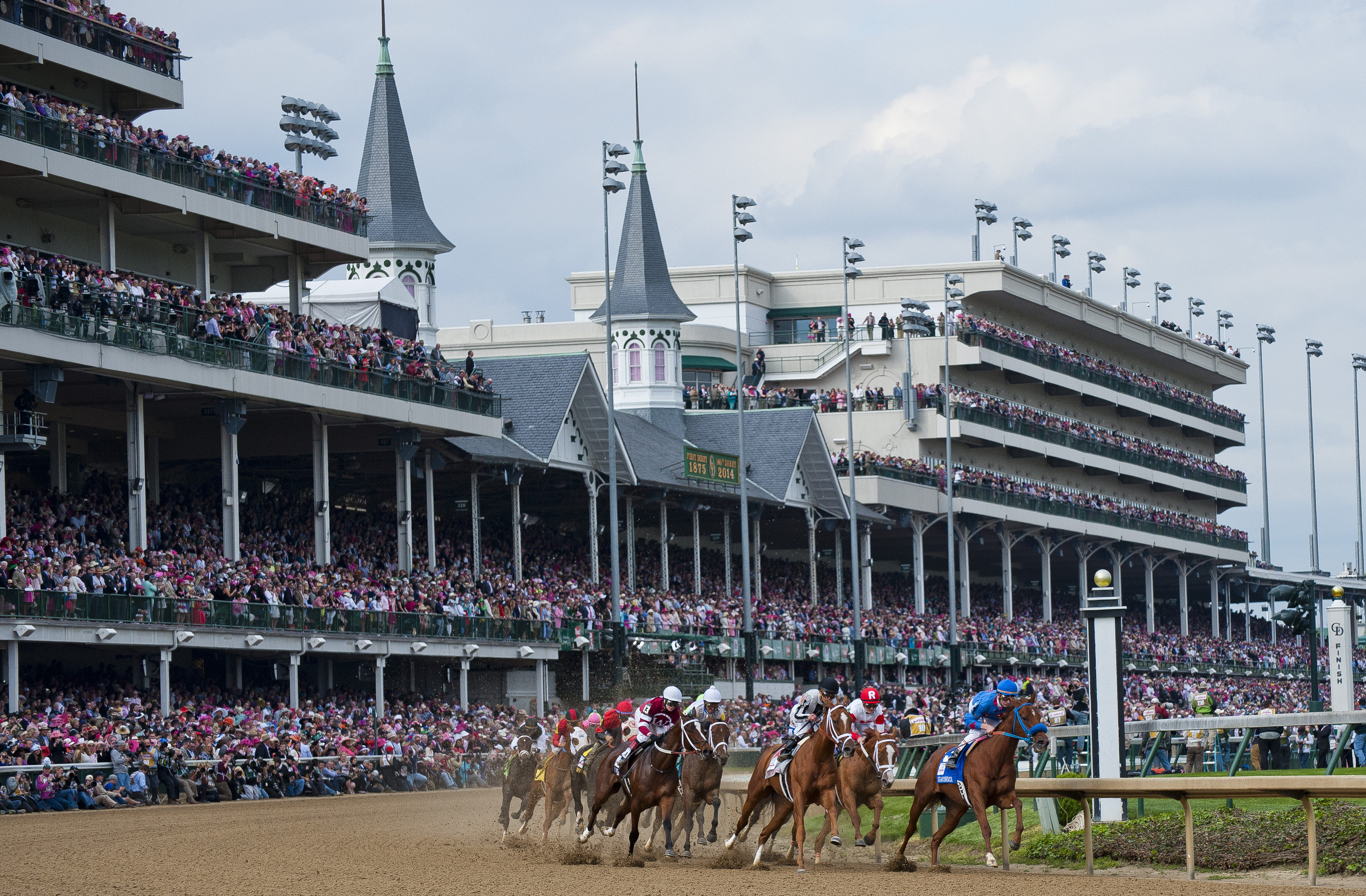 Kentucky Oaks Day at Churchill Downs in Louisville, KY on May 2, 2014.