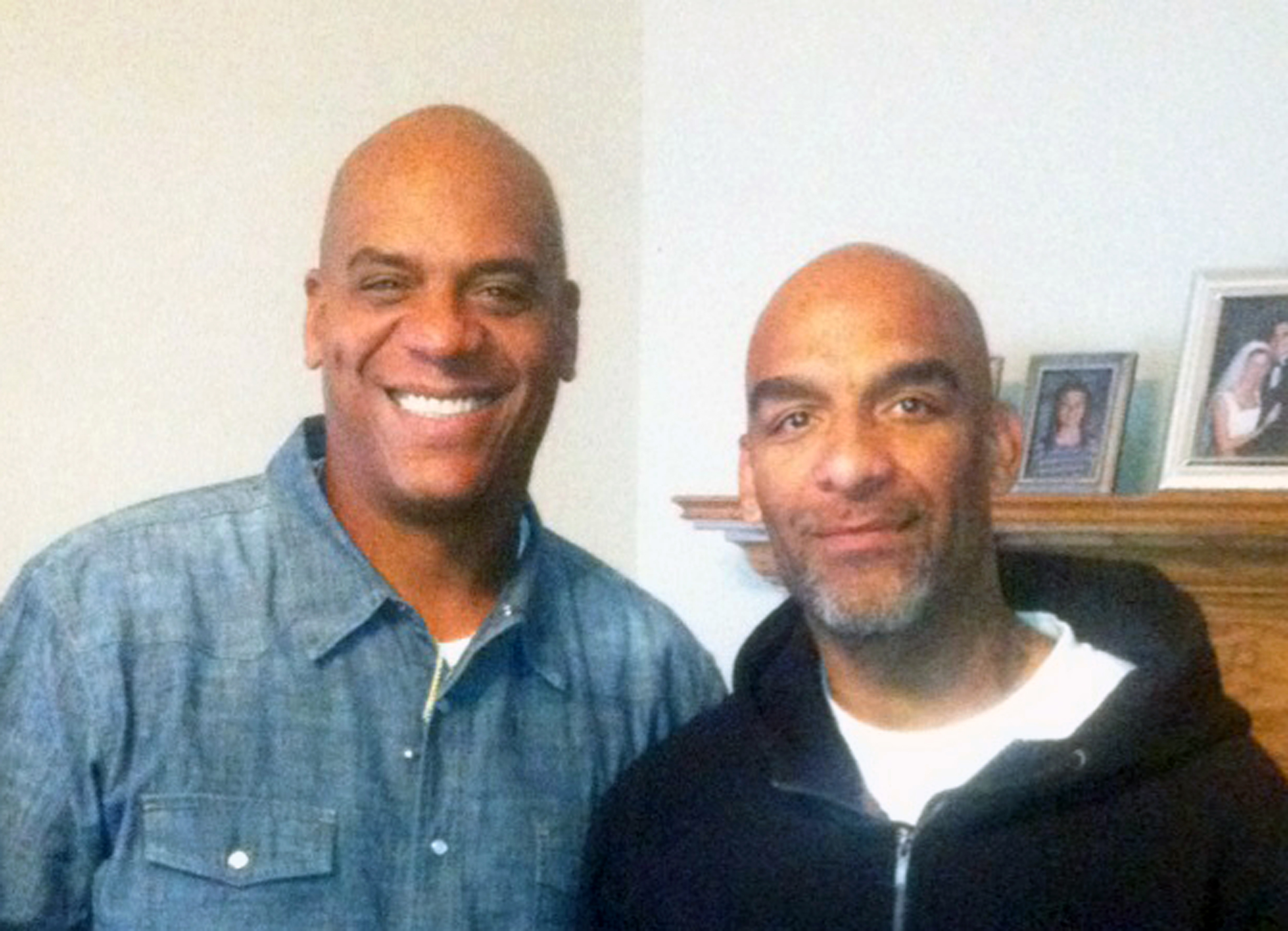Eric Harris (R) poses with his brother Andre in this undated photo.
