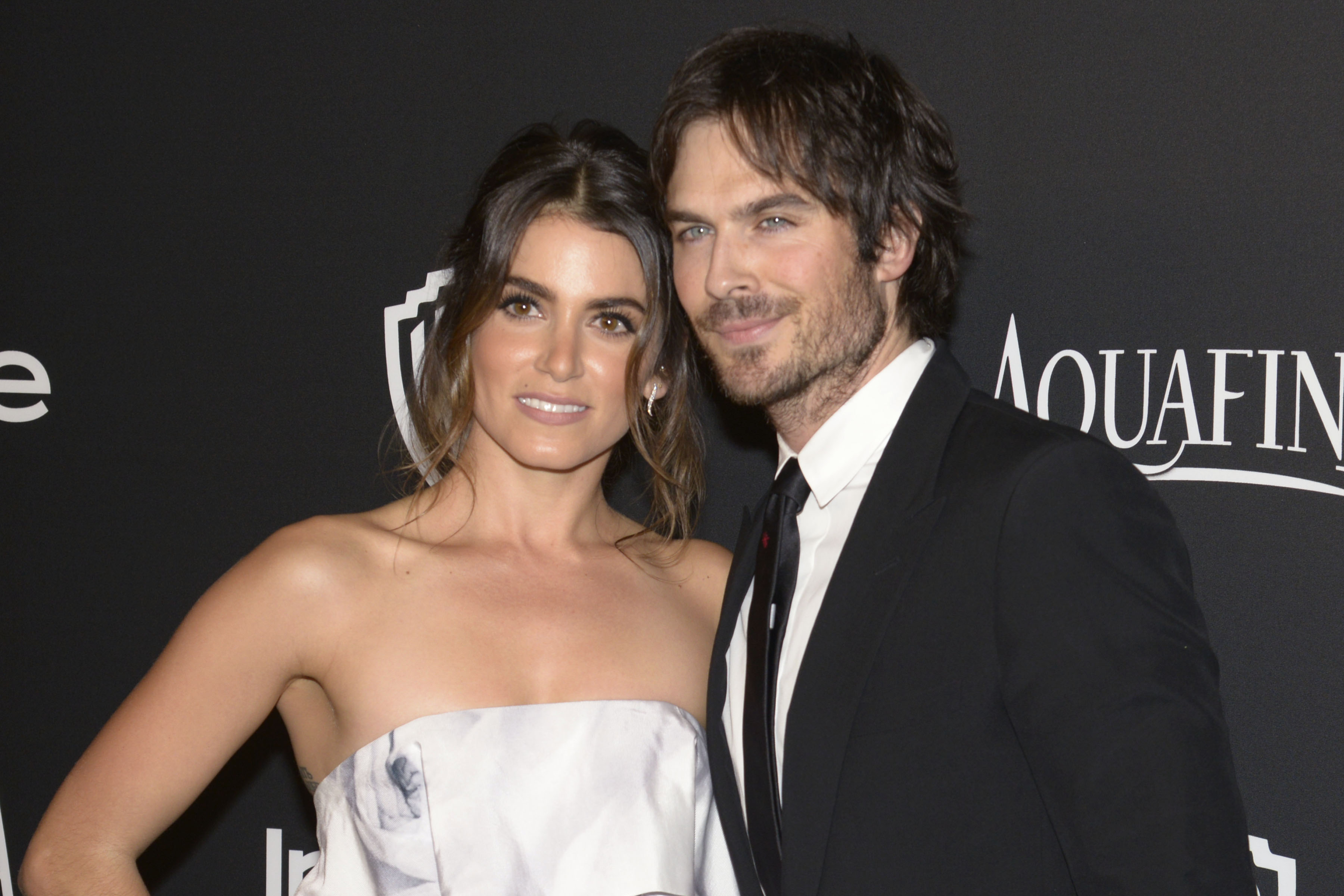 Nikki Reed and Ian Somerhalder at the InStyle and Warner Bros. Golden Globe Awards after party held at the Beverly Hilton in Los Angeles on Jan. 11, 2015