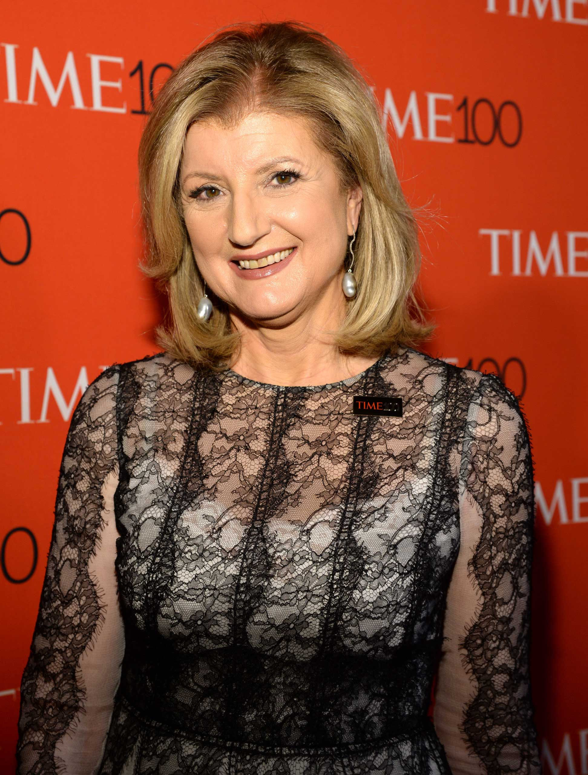 Arianna Huffington attends the TIME 100 Gala at Jazz at Lincoln Center in New York City on Apr. 21, 2015.