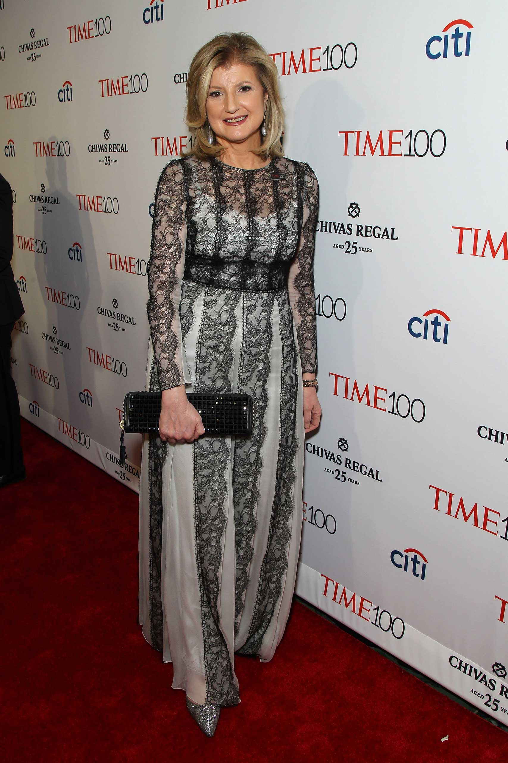 Arianna Huffington attends the TIME 100 Gala at Jazz at Lincoln Center in New York City on April 21, 2015.