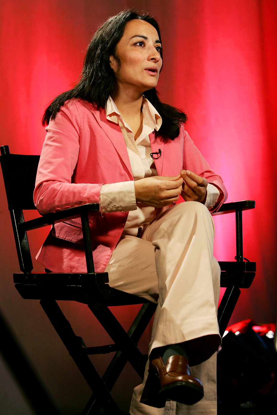 Asra Nomani during an interview in New York on April 6, 2005.