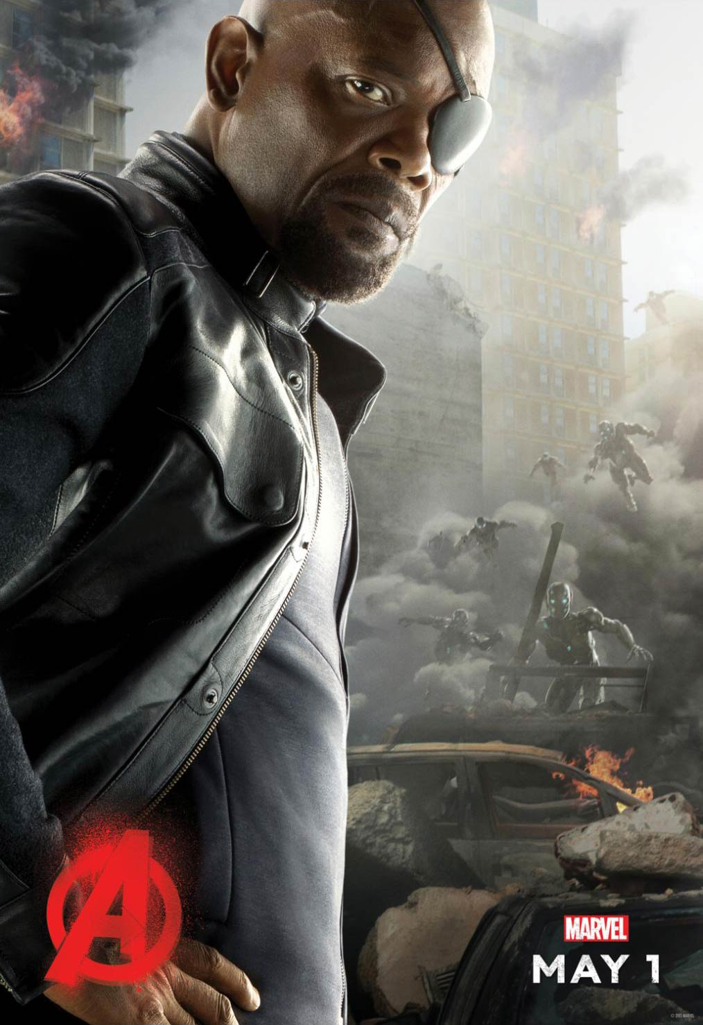 <strong>Samuel L. Jackson as Nick Fury</strong>