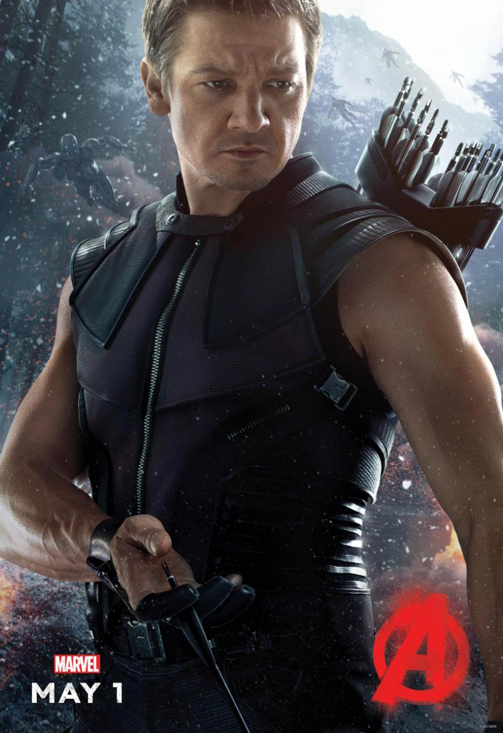 <strong>Jeremy Renner as Hawkeye</strong>