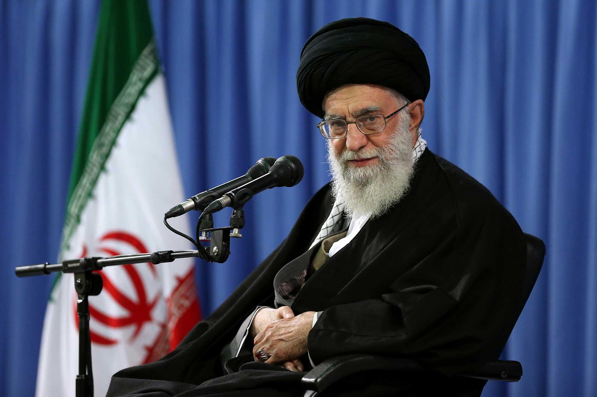 Iranian supreme leader, Supreme Leader Ayatollah Ali Khamenei in Tehran, Iran, April 9, 2015.