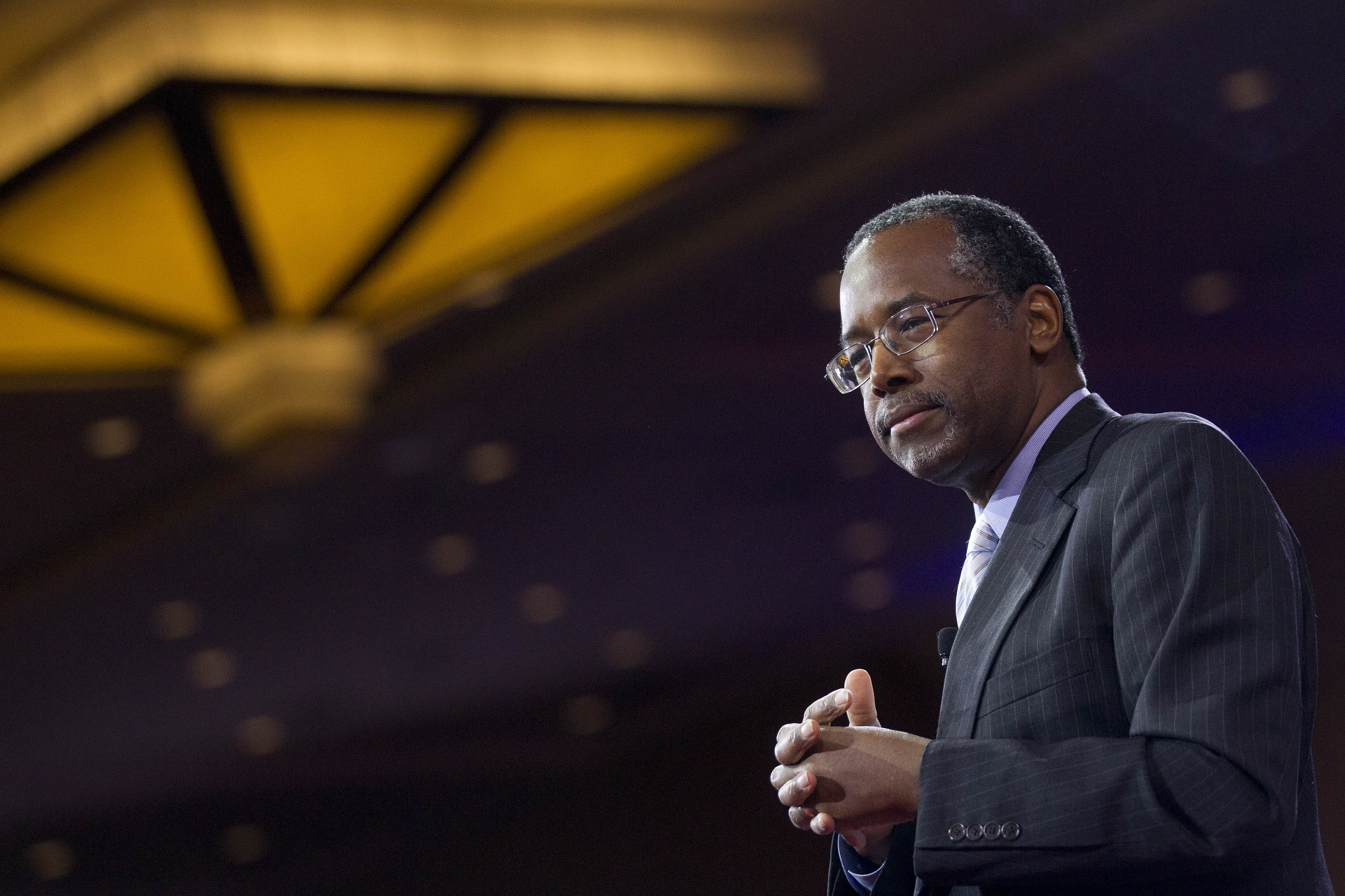 Ben Carson during the Conservative Political Action Conference in National Harbor, Md.,on Feb. 26, 2015.