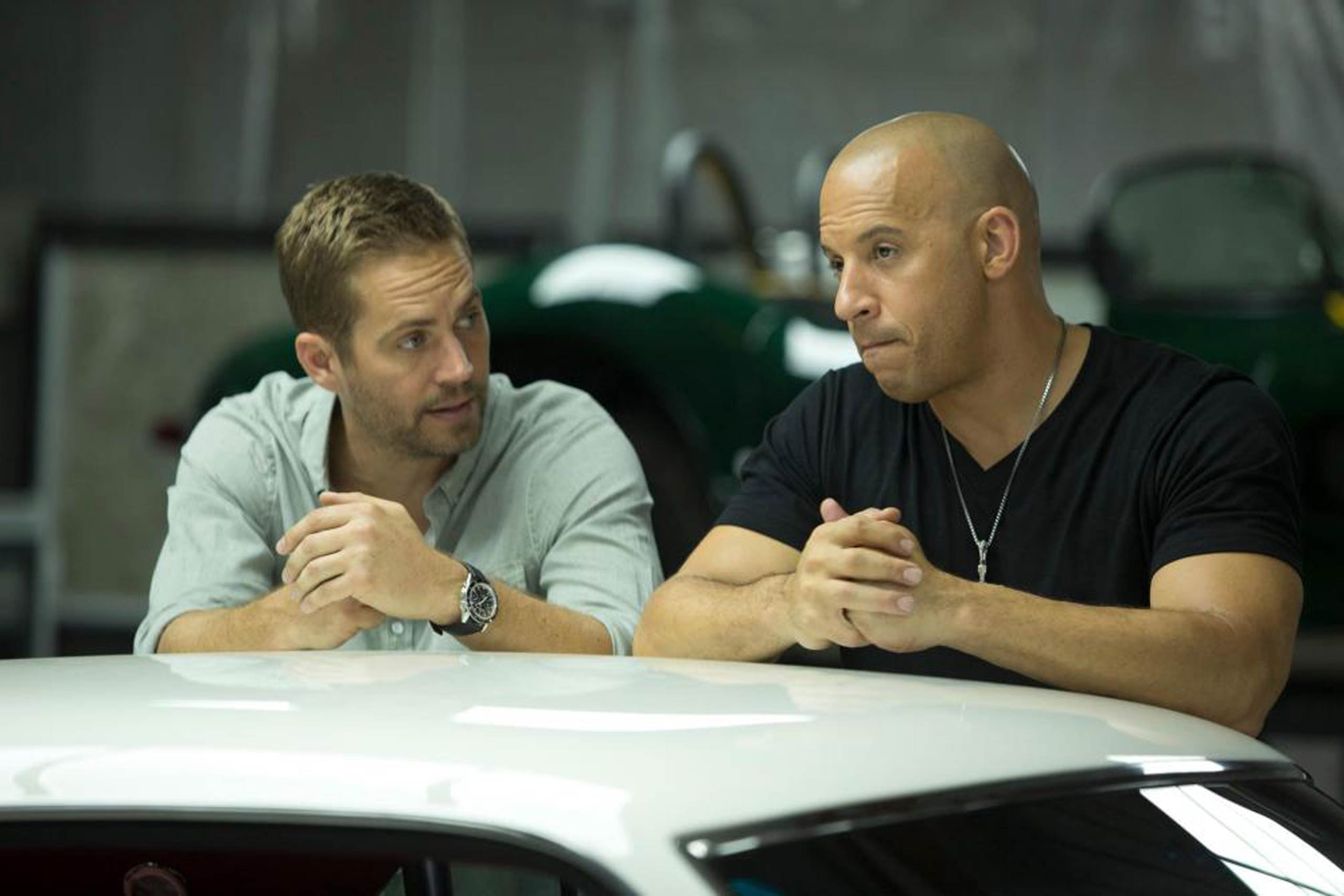 <strong>Brian O'Conner and Dominic Toretto in <i>The Fast and the Furious</i></strong>