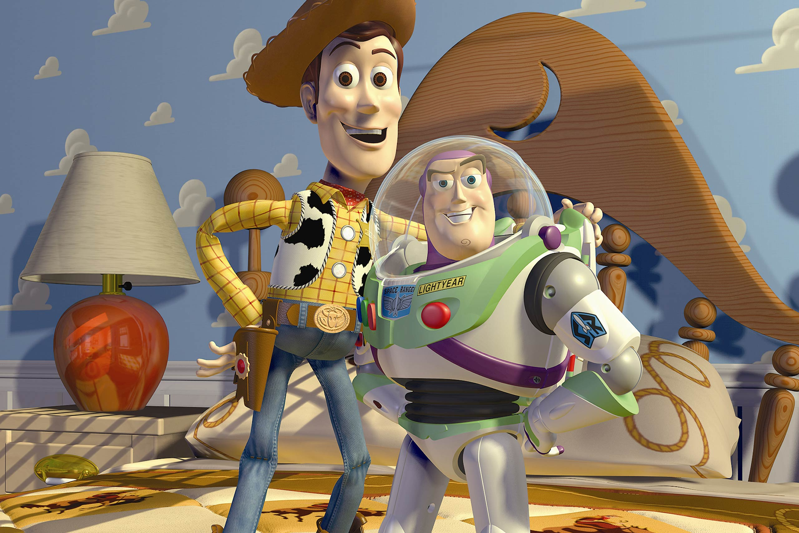 <strong>Woody and Buzz in <i>Toy Story</i></strong>