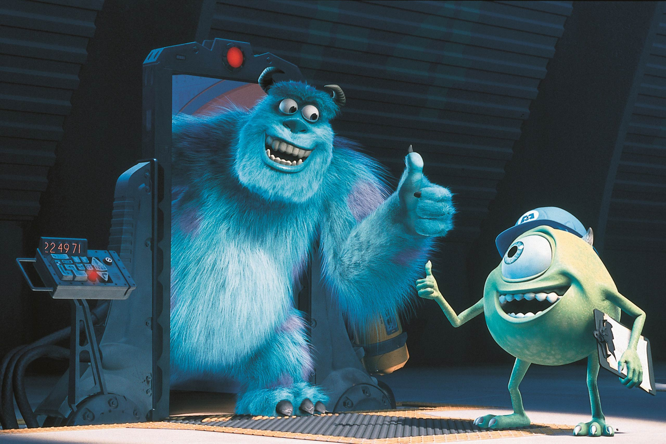 <strong>Sulley and Mike Wazowski in <i>Monsters, Inc.</i></strong>