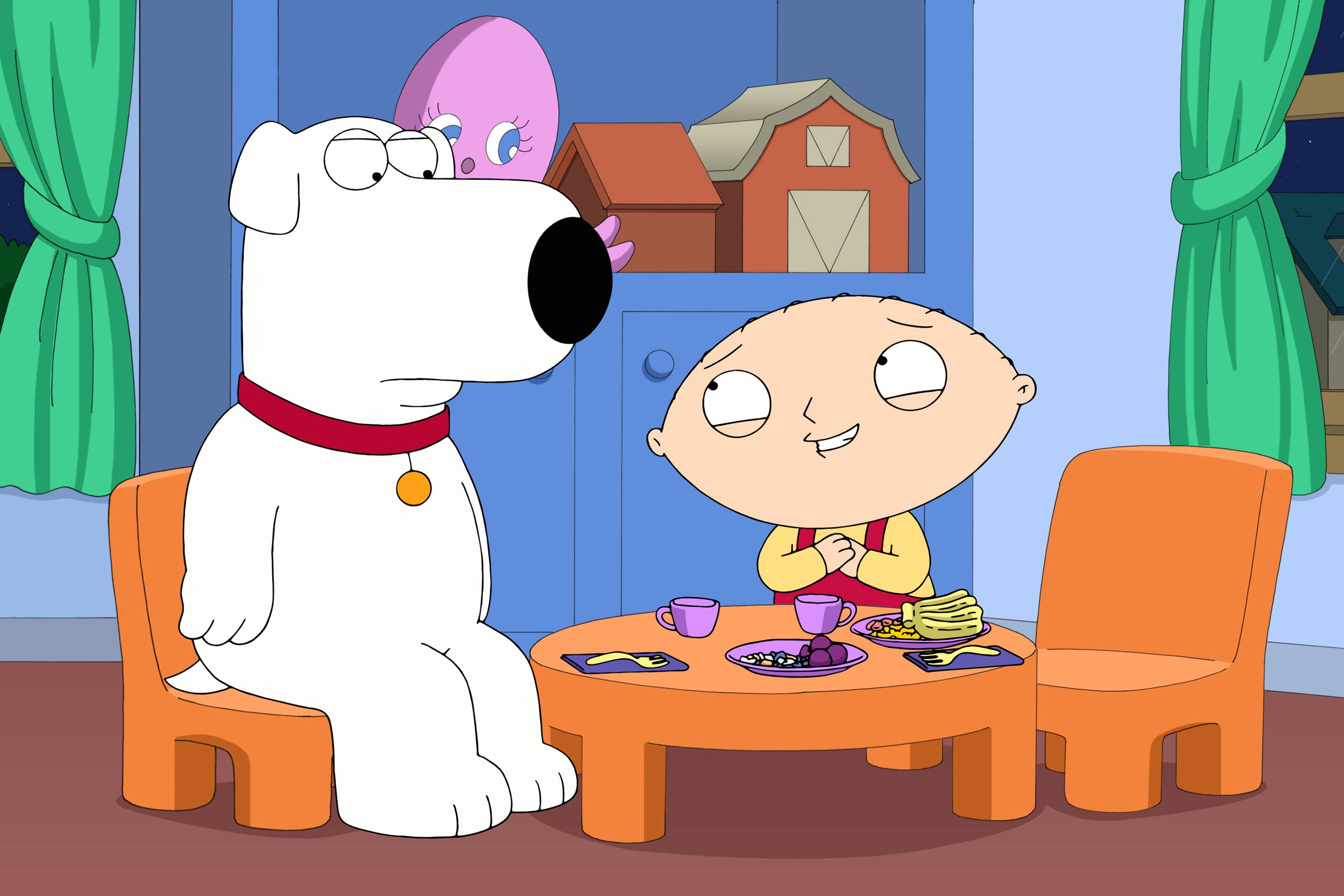 <strong>Brian and Stewie in <i>Family Guy</i></strong>