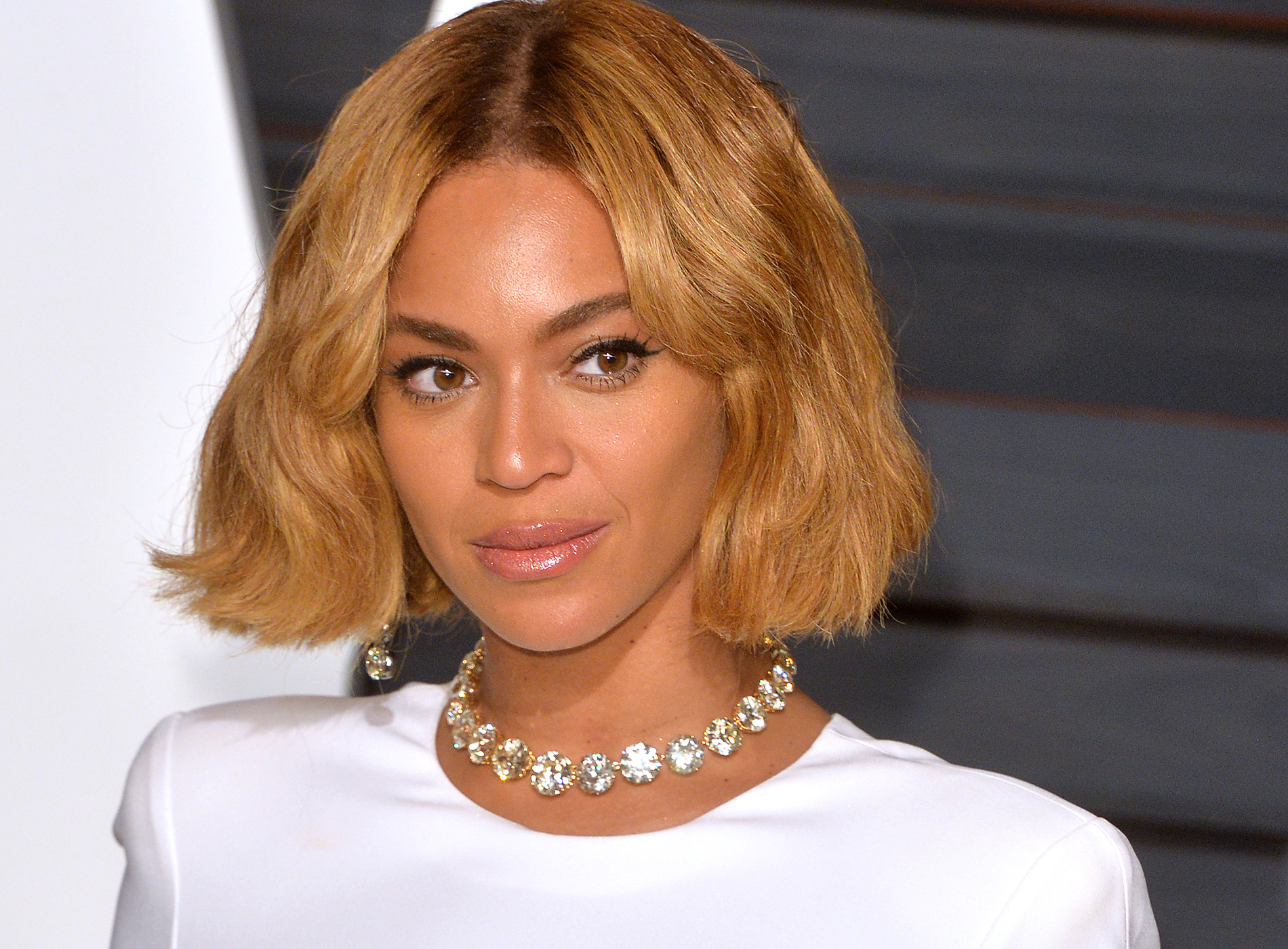 Beyonce arrives at the 2015 Vanity Fair Oscar Party Hosted By Graydon Carter at Wallis Annenberg Center for the Performing Arts on Feb.22, 2015 in Beverly Hills, Calif.