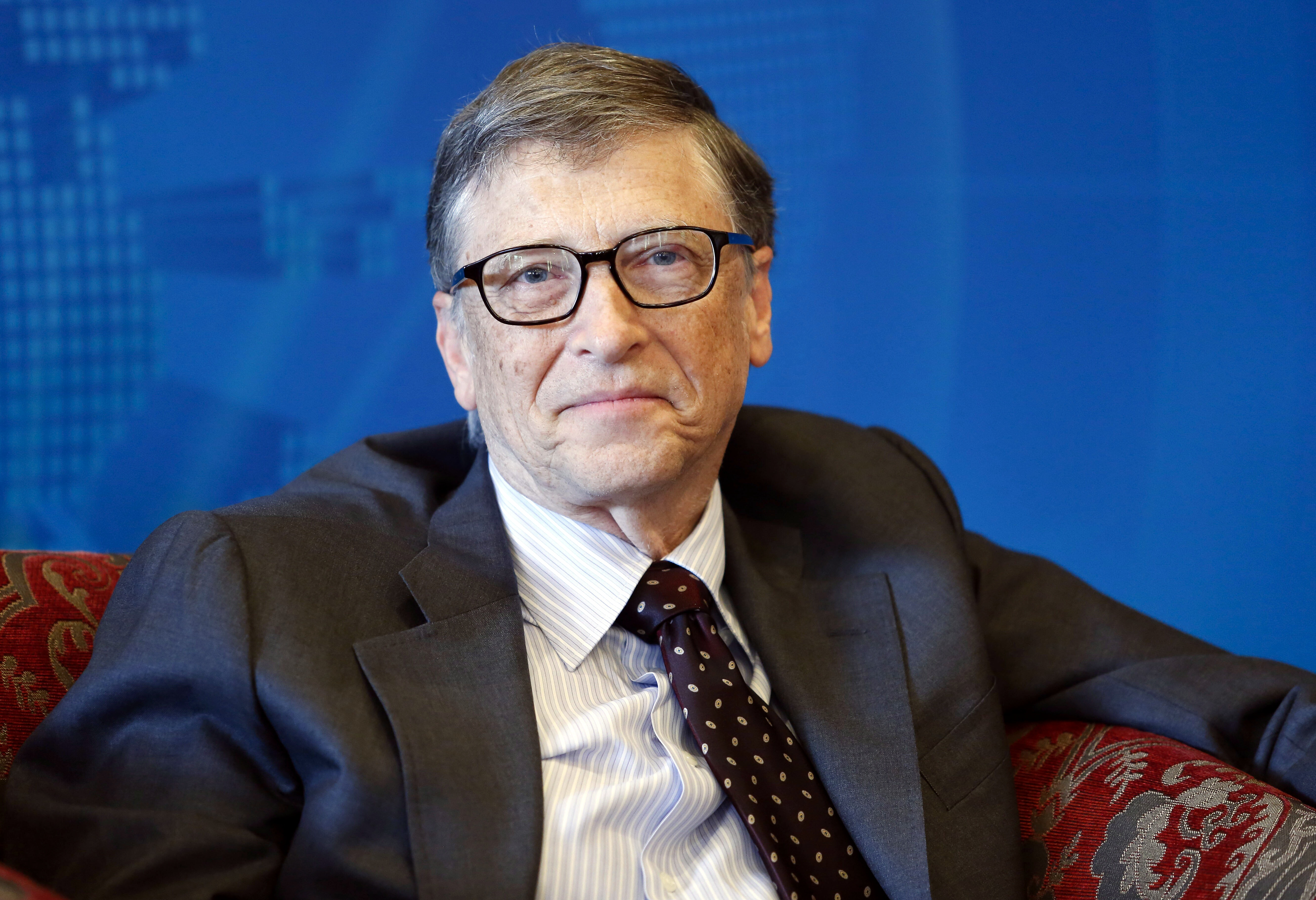 Bill Gates, co-founder of Microsoft attends a breakfast meeting with the theme  Dialogue: Technology & Innovation for a Sustainable Future  during the Boao Forum For Asia Annual Conference 2015 in Qionghai city, Hainan Province, China on March 29, 2015.