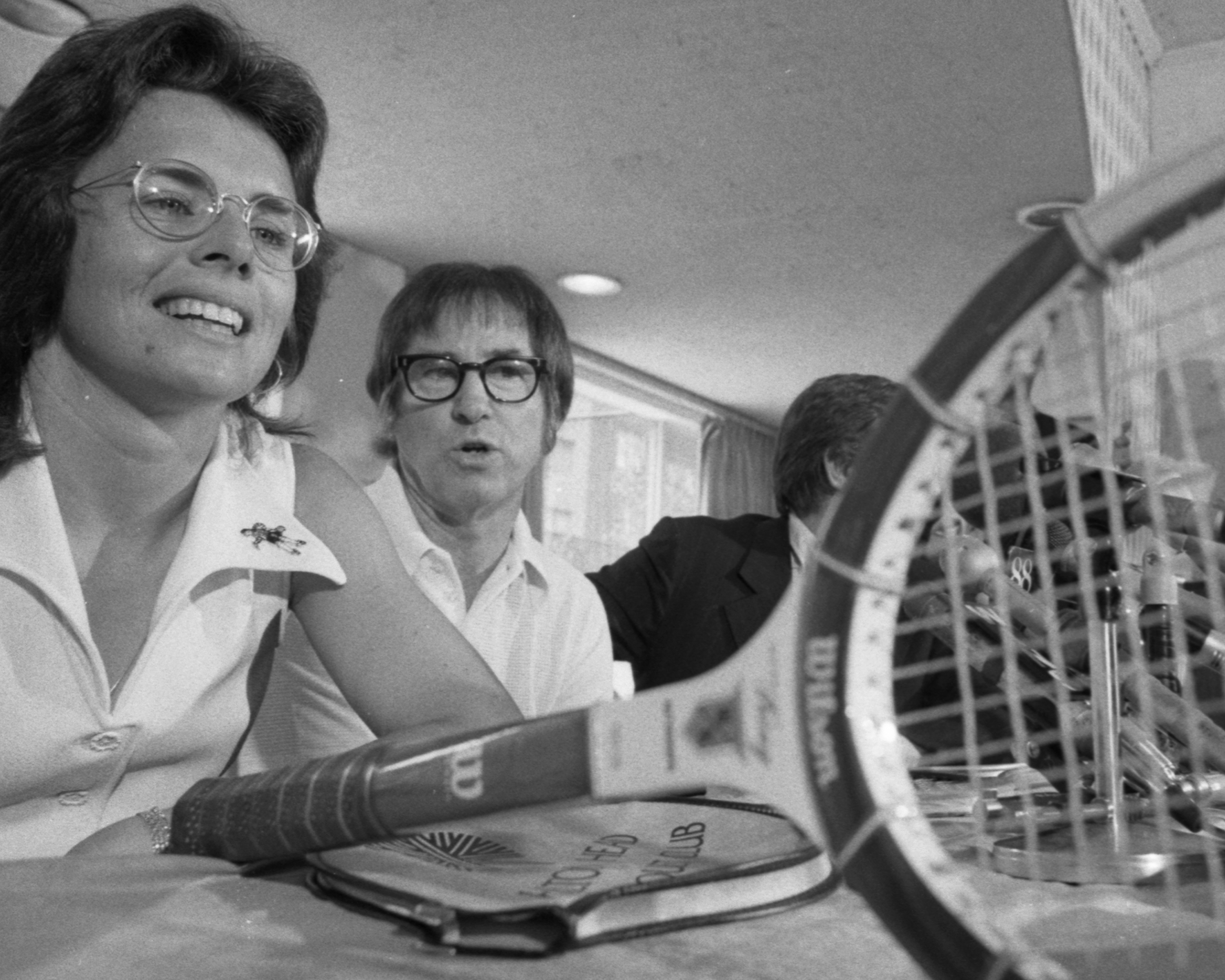Billie Jean King and Bobby Riggs a few months before their Battle of the Sexes match.