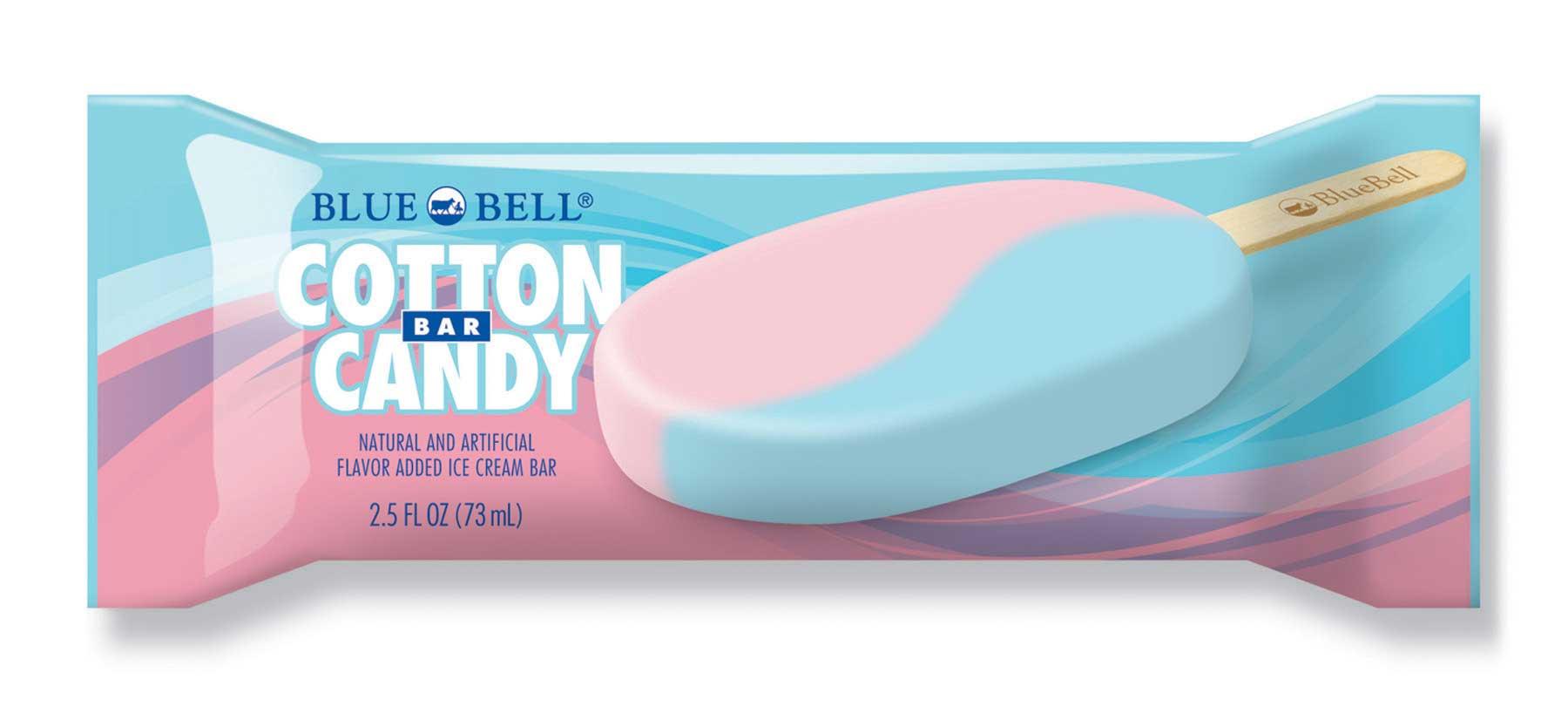 A Blue Bell Cotton Candy Bar.
