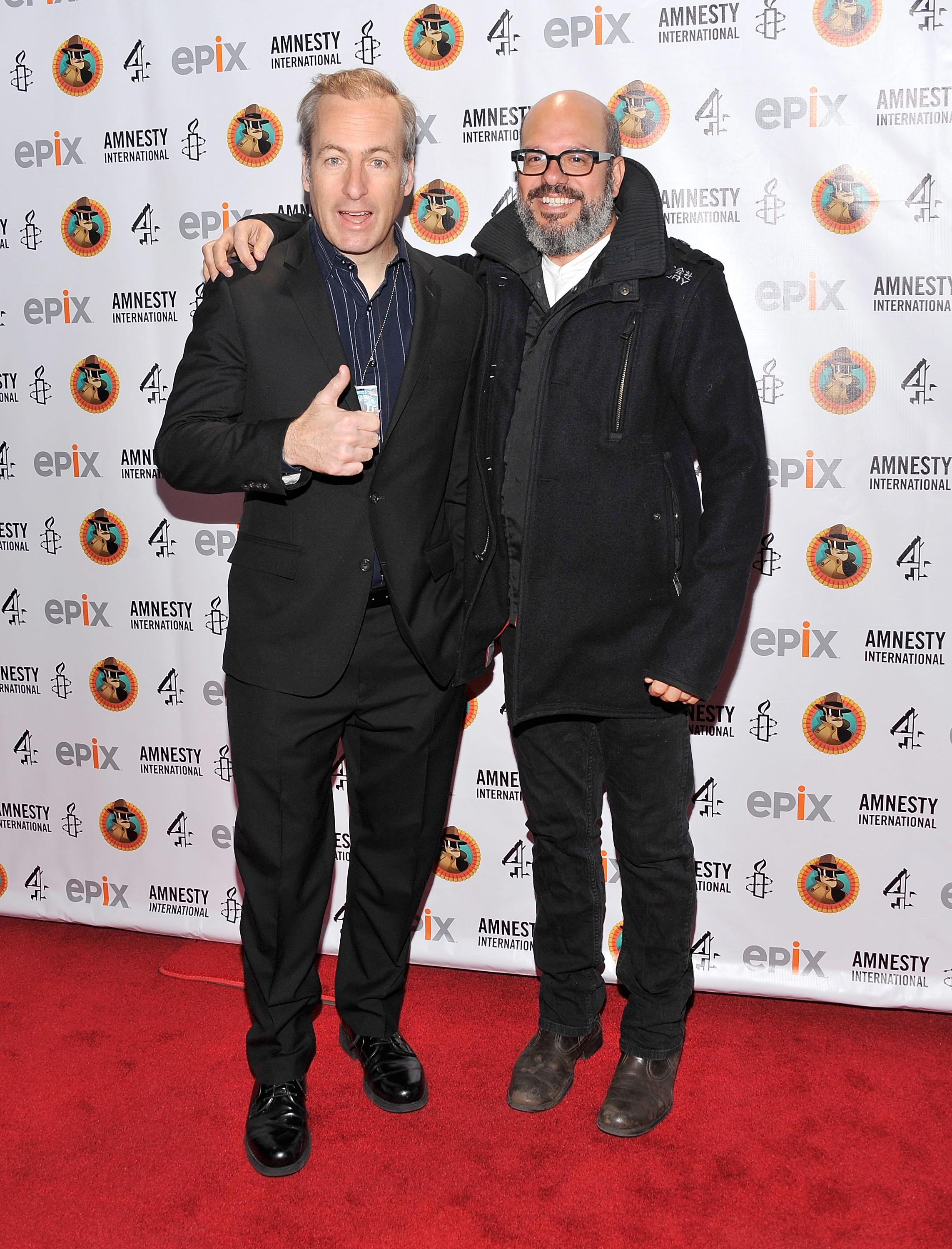 Actors Bob Odenkirk (L) and David Cross attend Amnesty International's Secret Policeman's Ball 2012 at Radio City Music Hall on March 4, 2012 in New York City.
